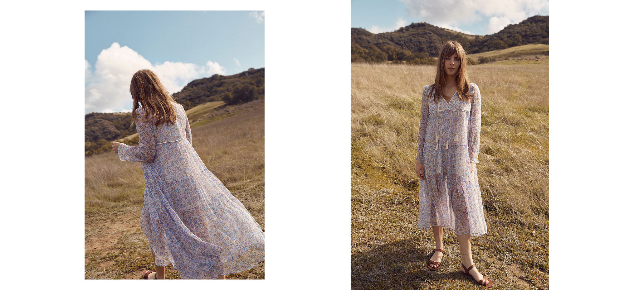 The Paloma Dress | Wisteria Silk