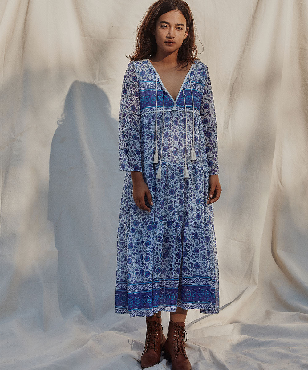 The Paloma Dress Petites | Periwinkle Suzani