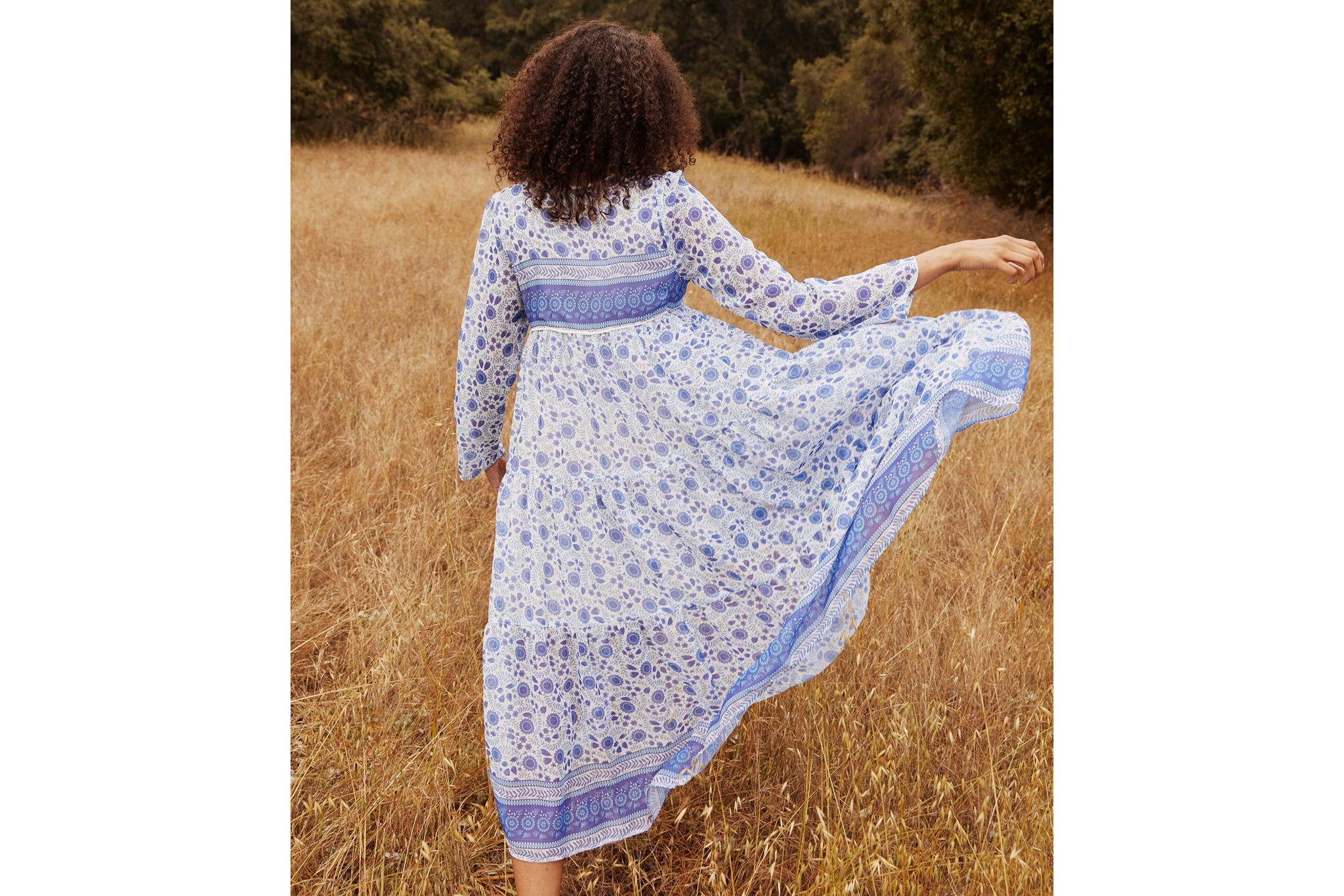 The Paloma Dress | Periwinkle Suzani