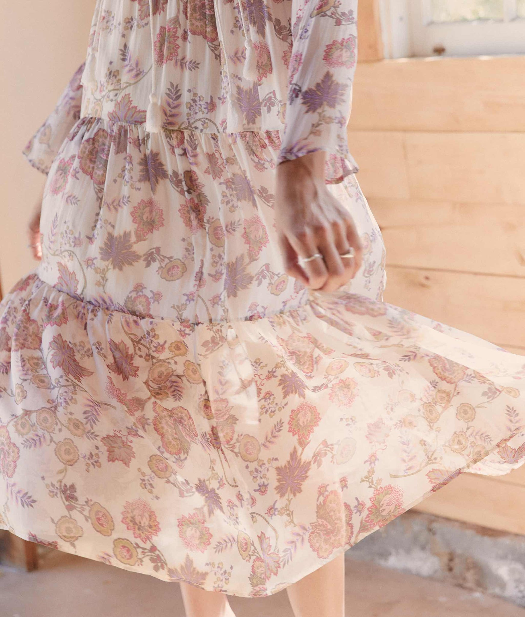 The Paloma Dress | Pastel Paisley Silk (Lined)