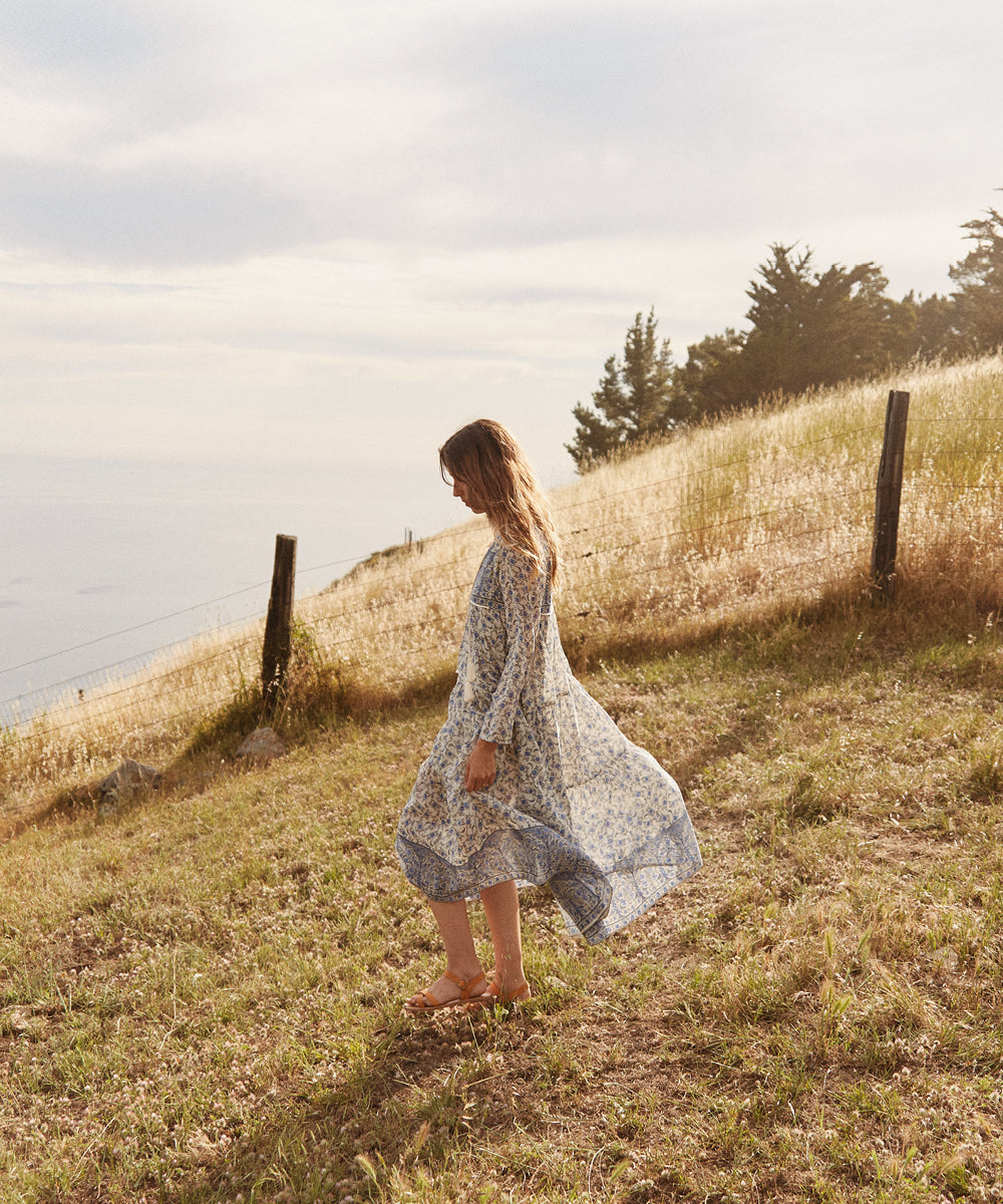 The Paloma Dress | Prussian Blue Chintz