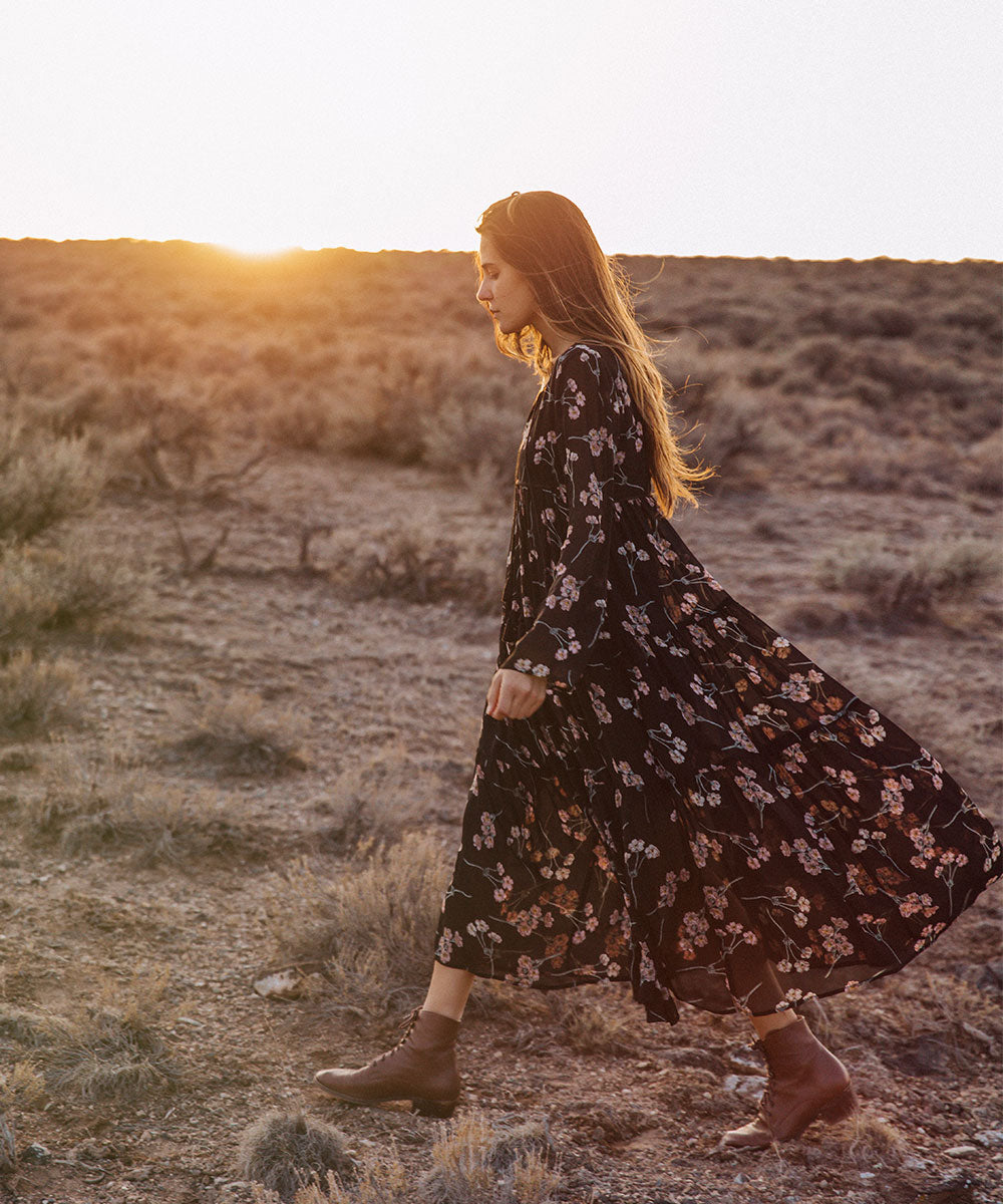 The Paloma Dress | Noir Blossom