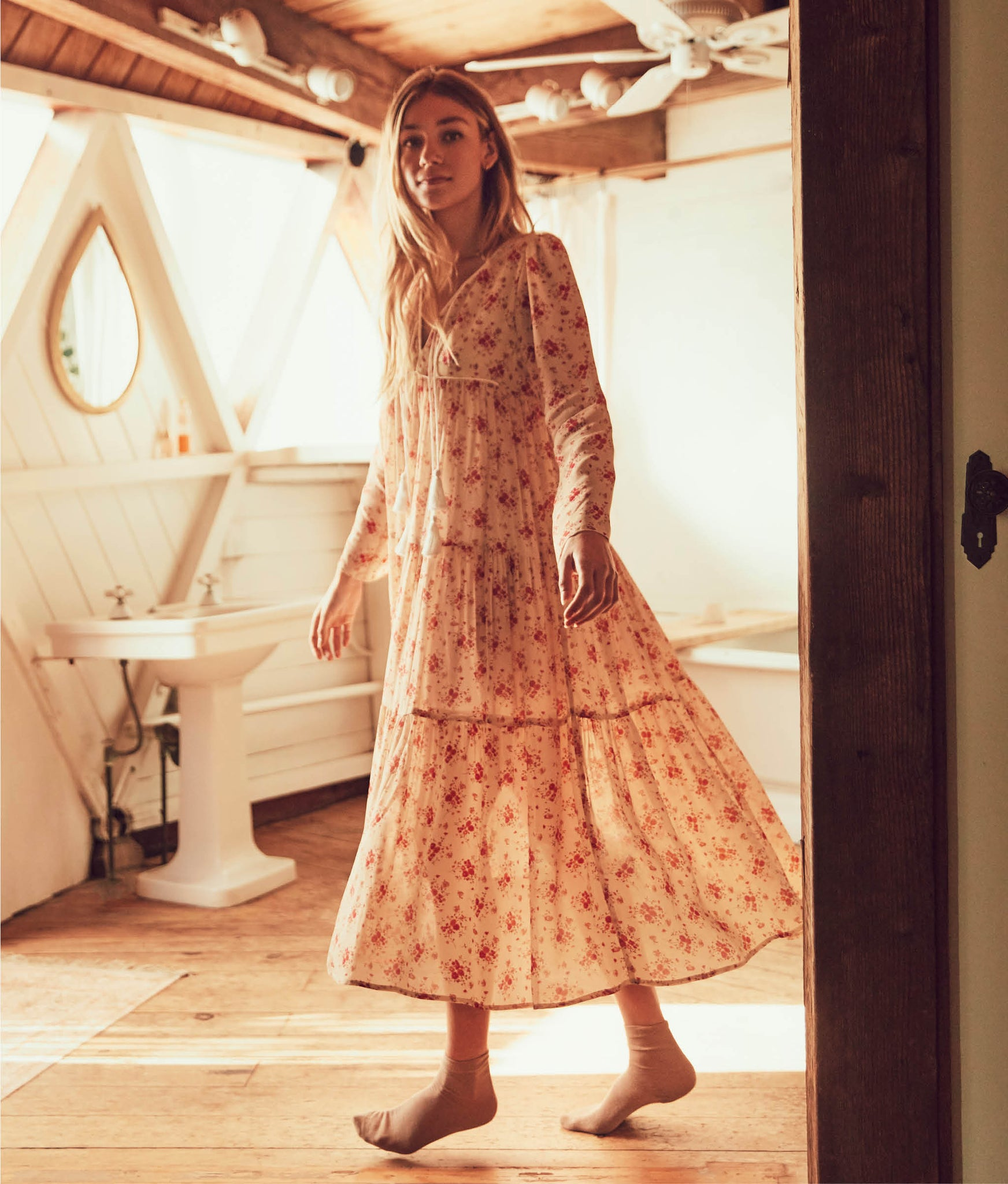 The Paloma Dress | Tea Rose Bloom