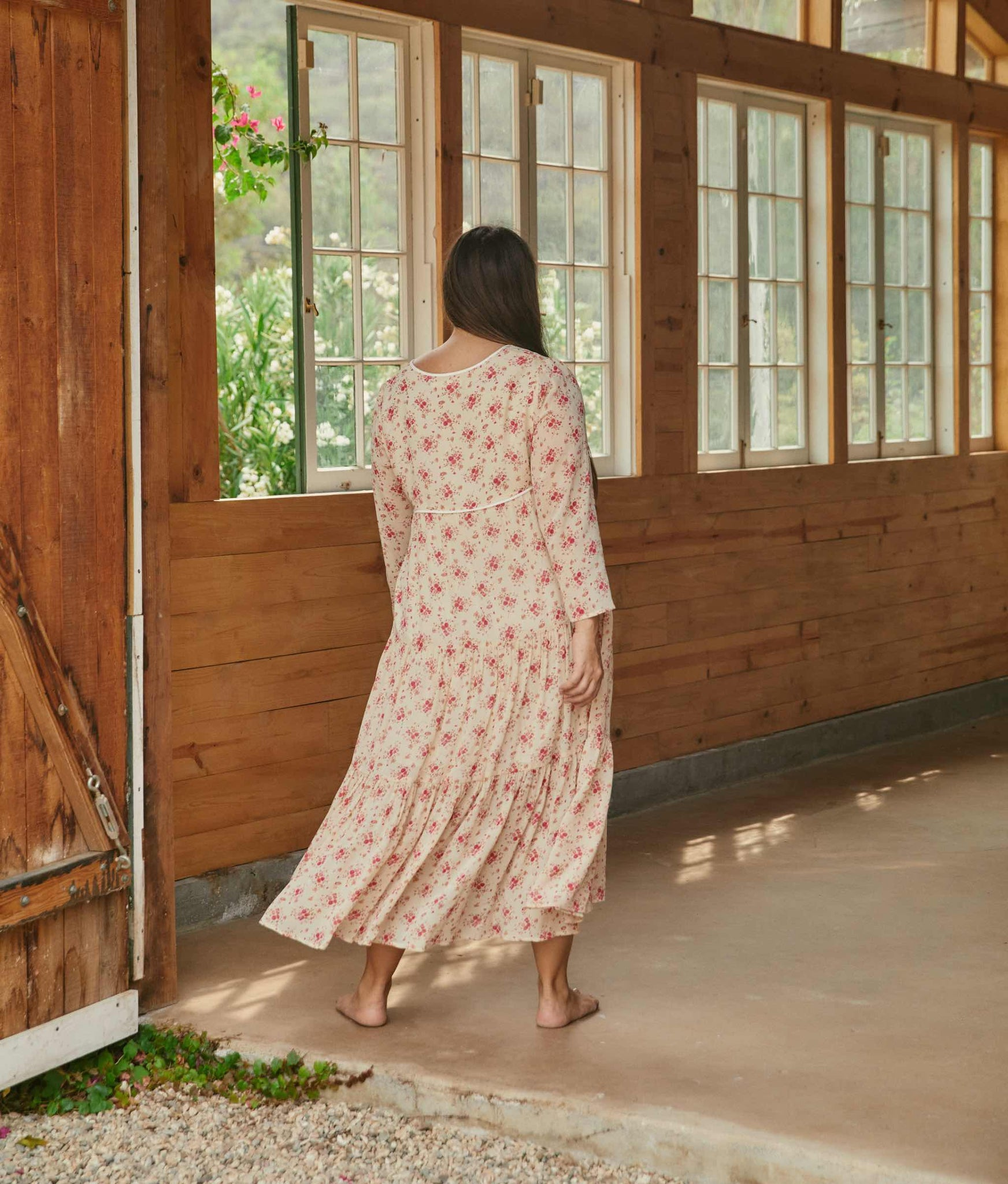 The Paloma Dress Extended | Tea Rose Bloom (Lined)