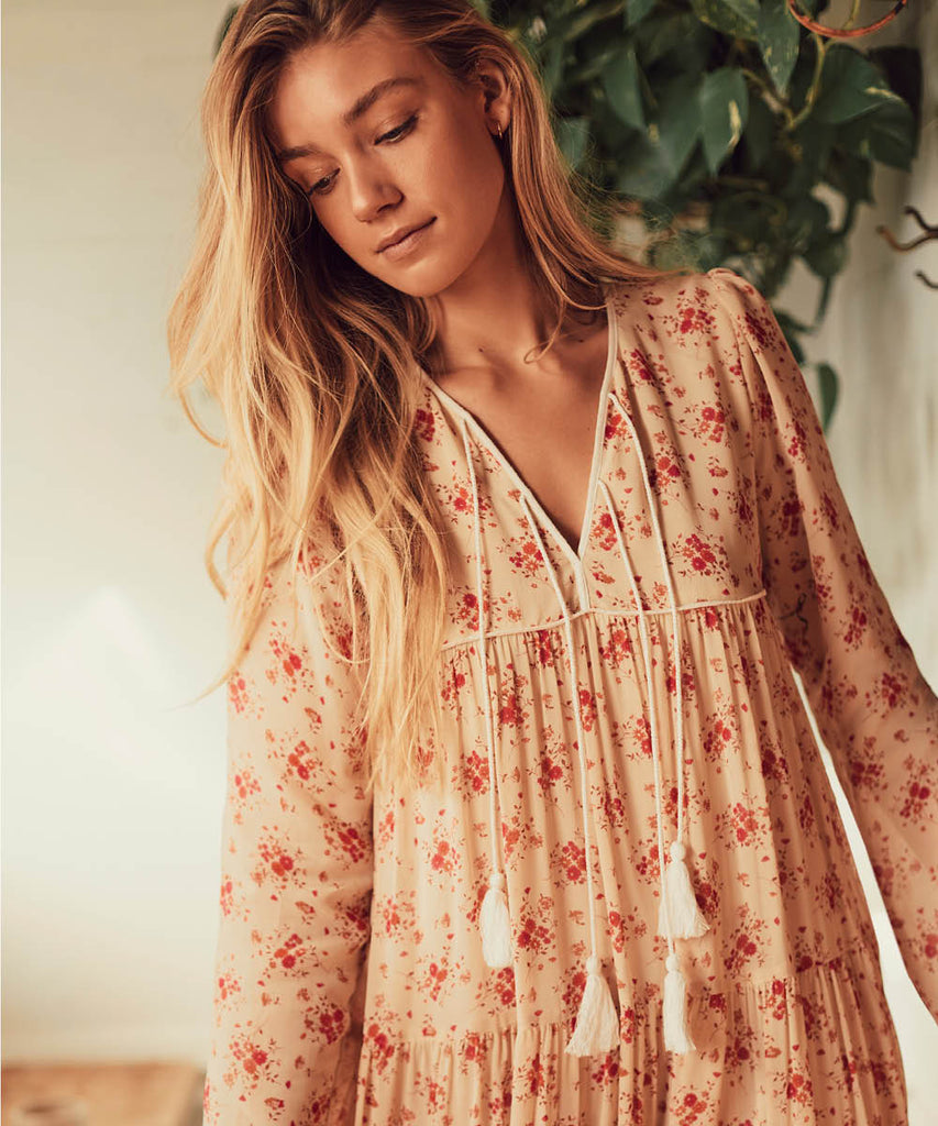 The Paloma Dress | Tea Rose Bloom image 8