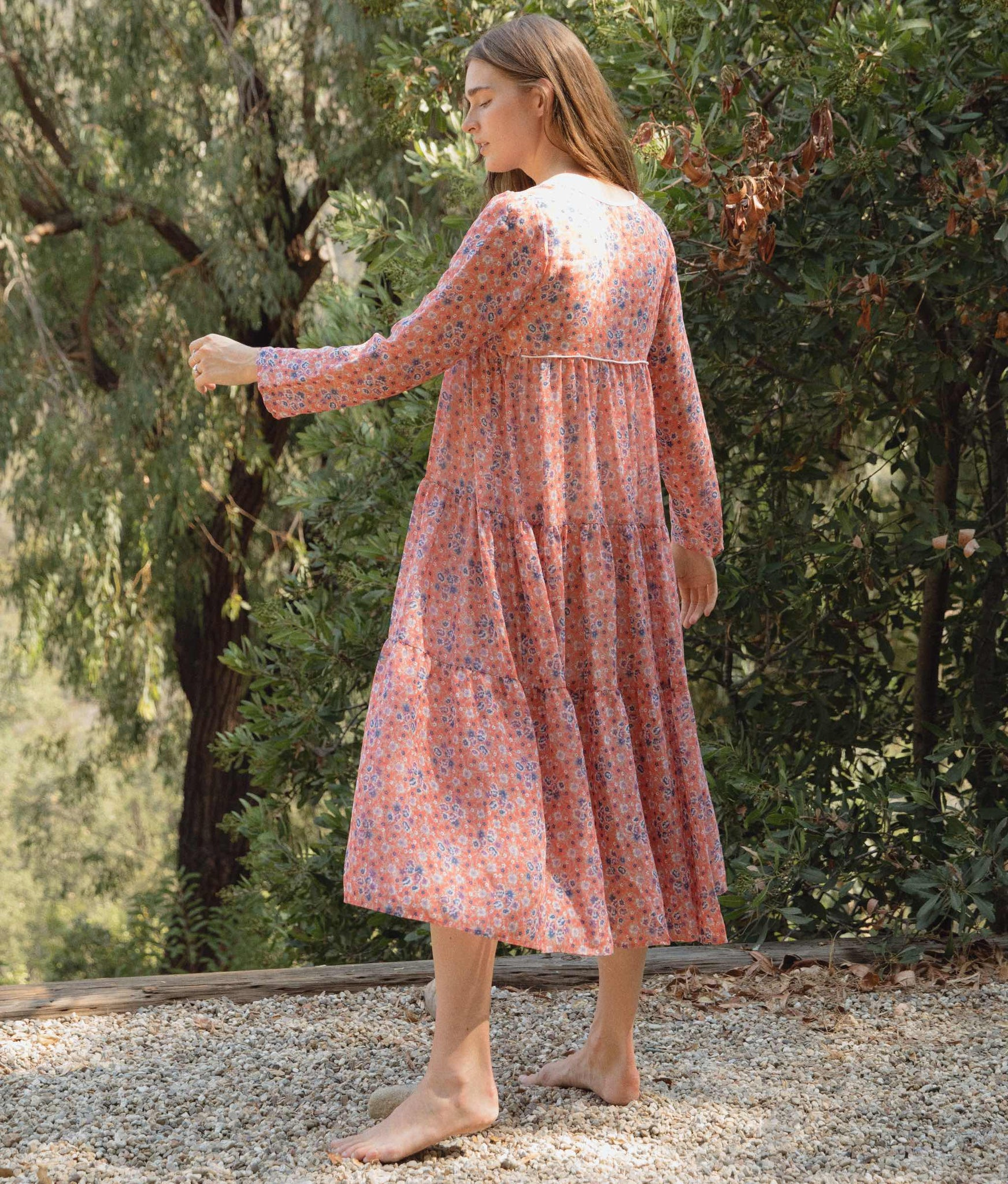 The Paloma Dress | Persimmon Floral (Lined)