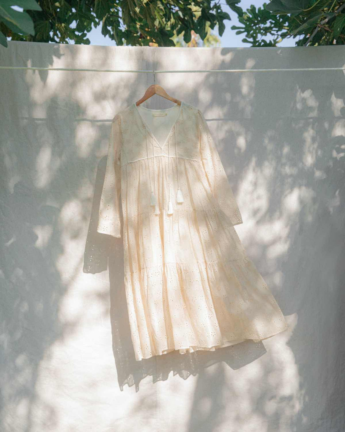 The Paloma Dress | Eyelet Embroider (Lined & 1-of-a-Kind)