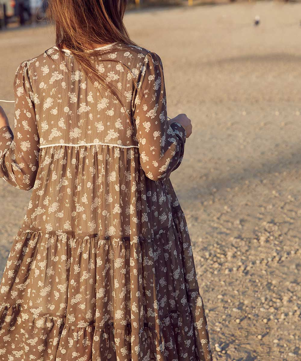 The Paloma Dress | Olive Floral Silk