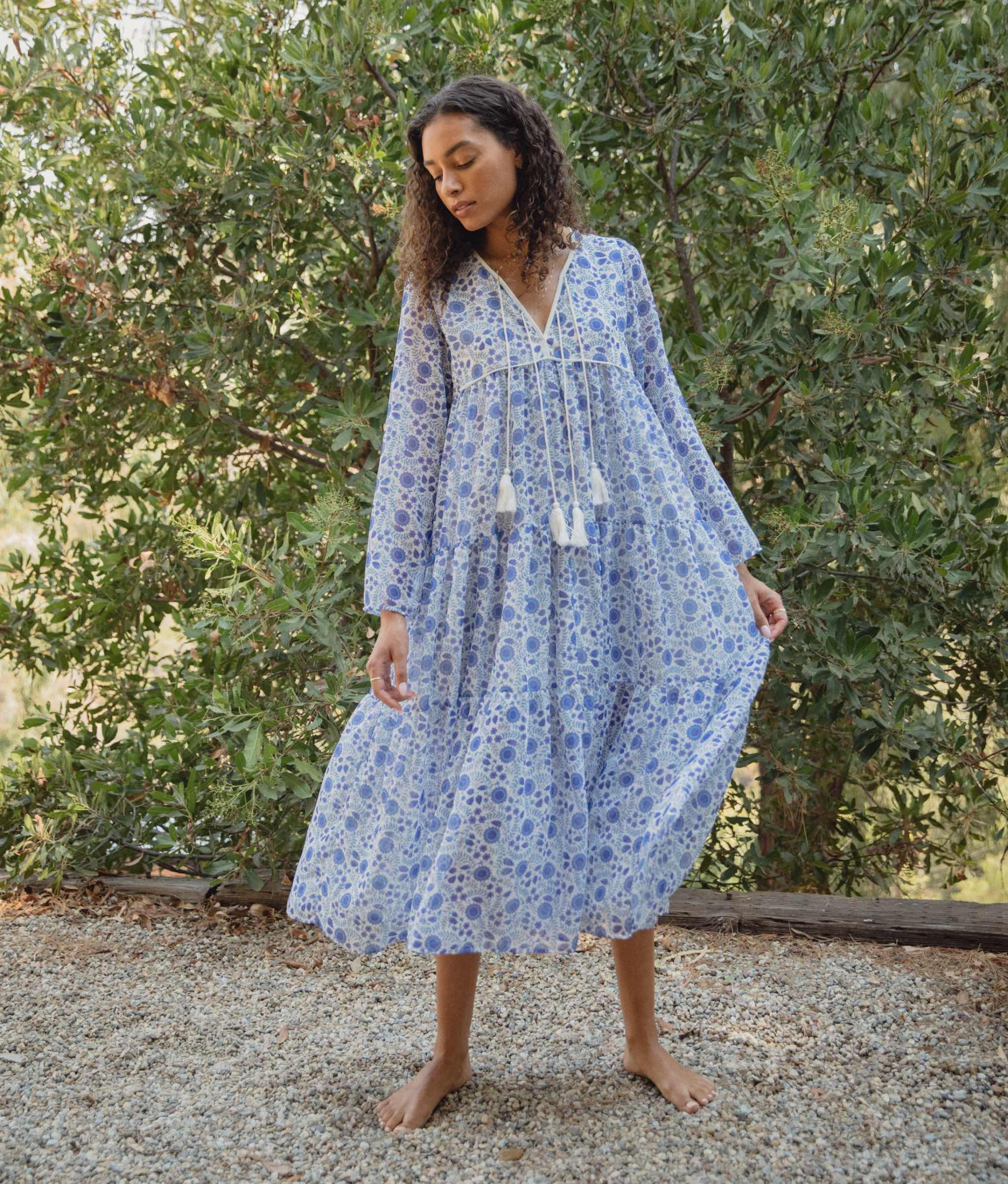 The Paloma Dress | Periwinkle Suzani (Lined)