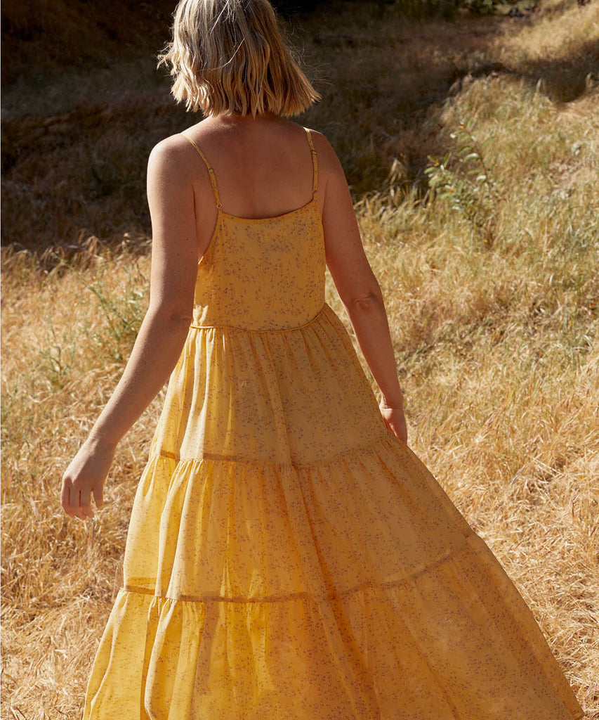 The Petunia Dress | Lemon Ditsy (Lined) image 8
