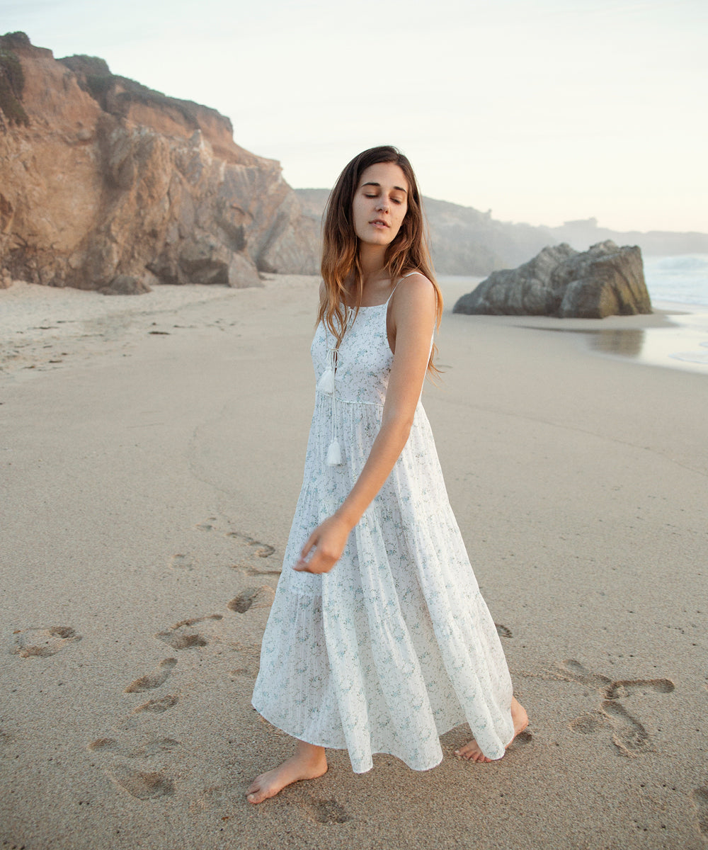 The Petunia Dress | Blueberry Ditsy