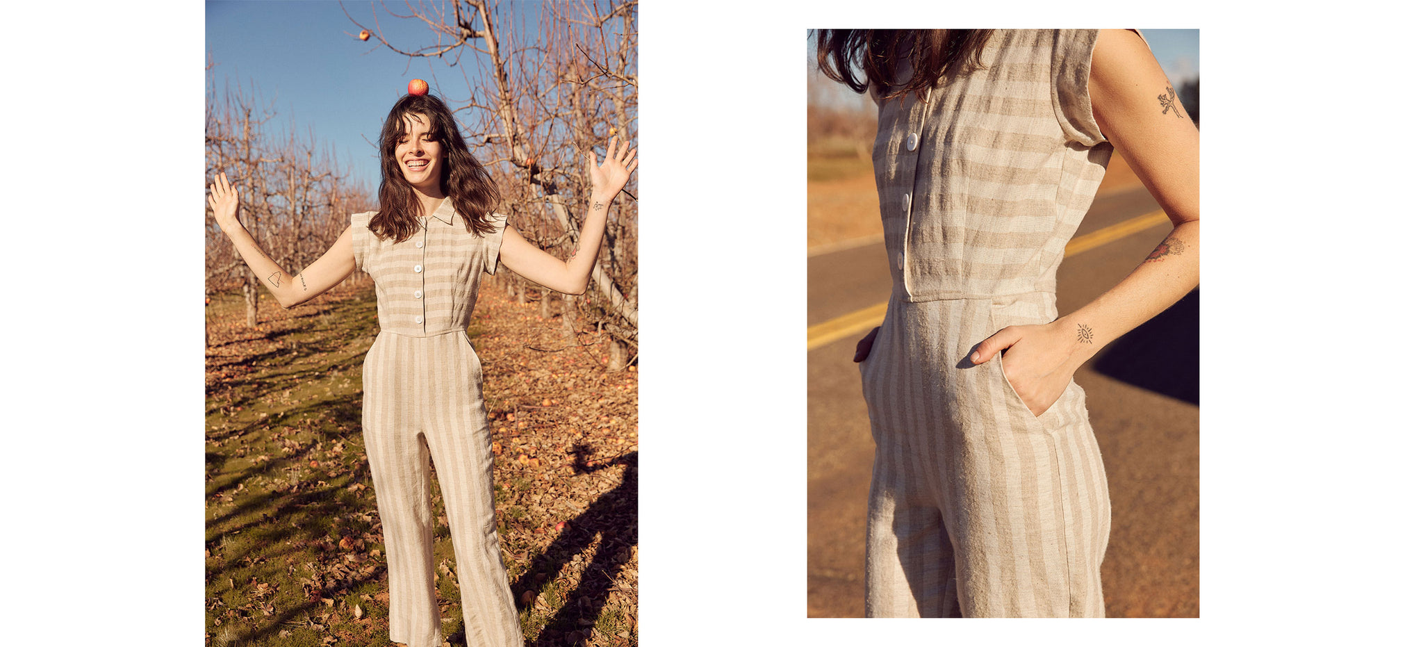 The Phoebe Jumper | Ecru Stripe