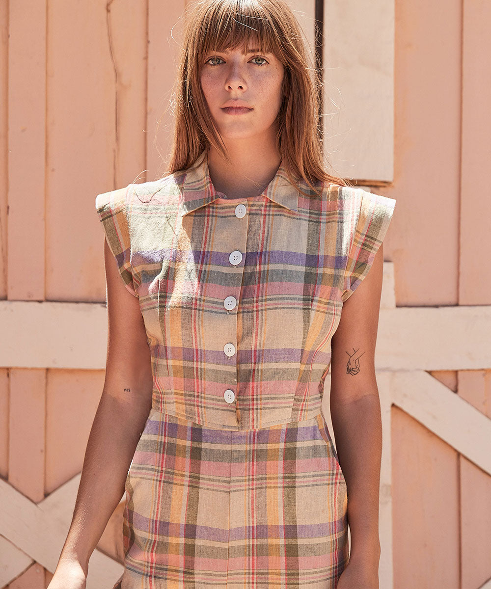 The Phoebe Jumper | Summer Plaid (Linen)