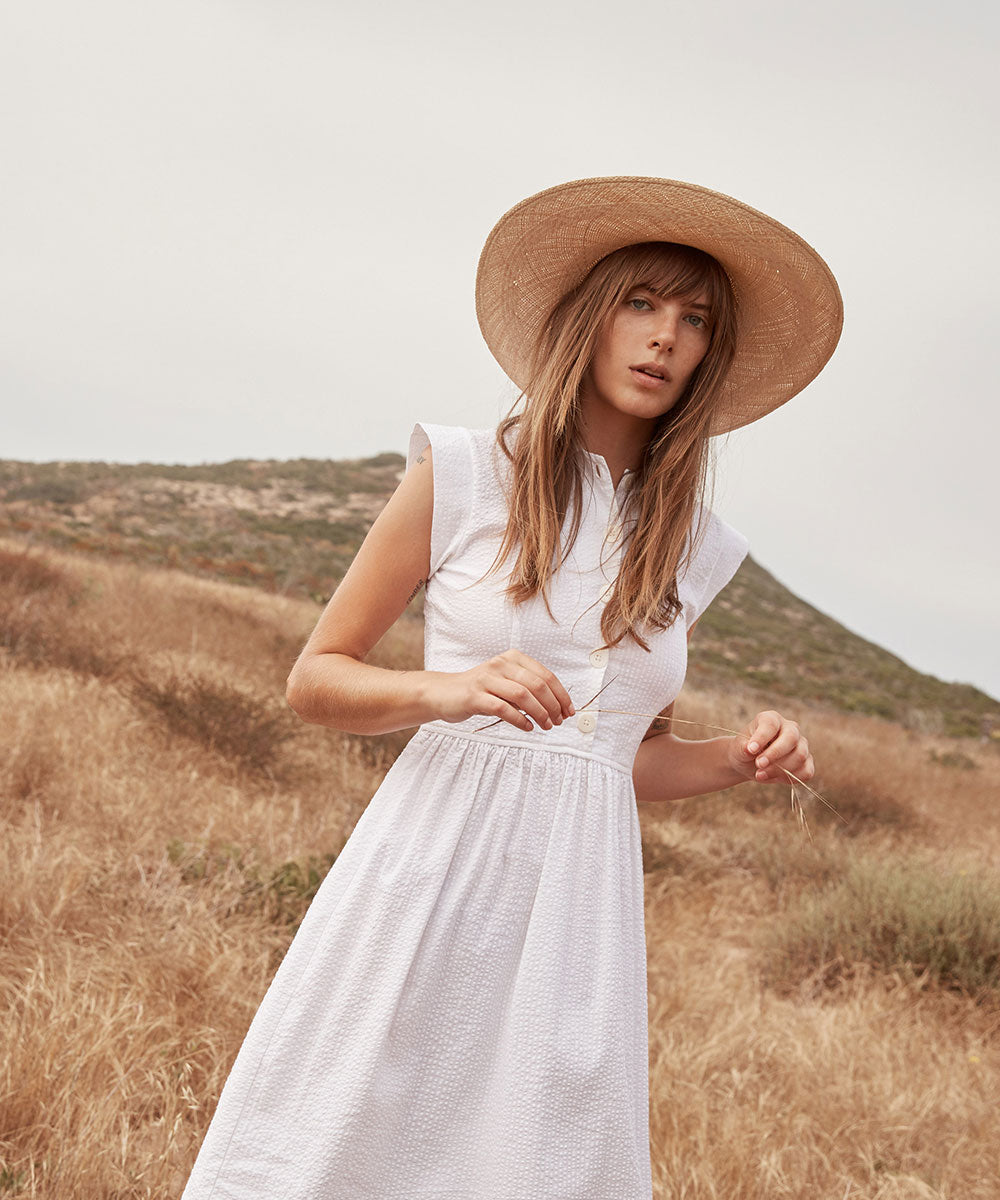 The Piper Dress | Alabaster Seersucker (Cotton)
