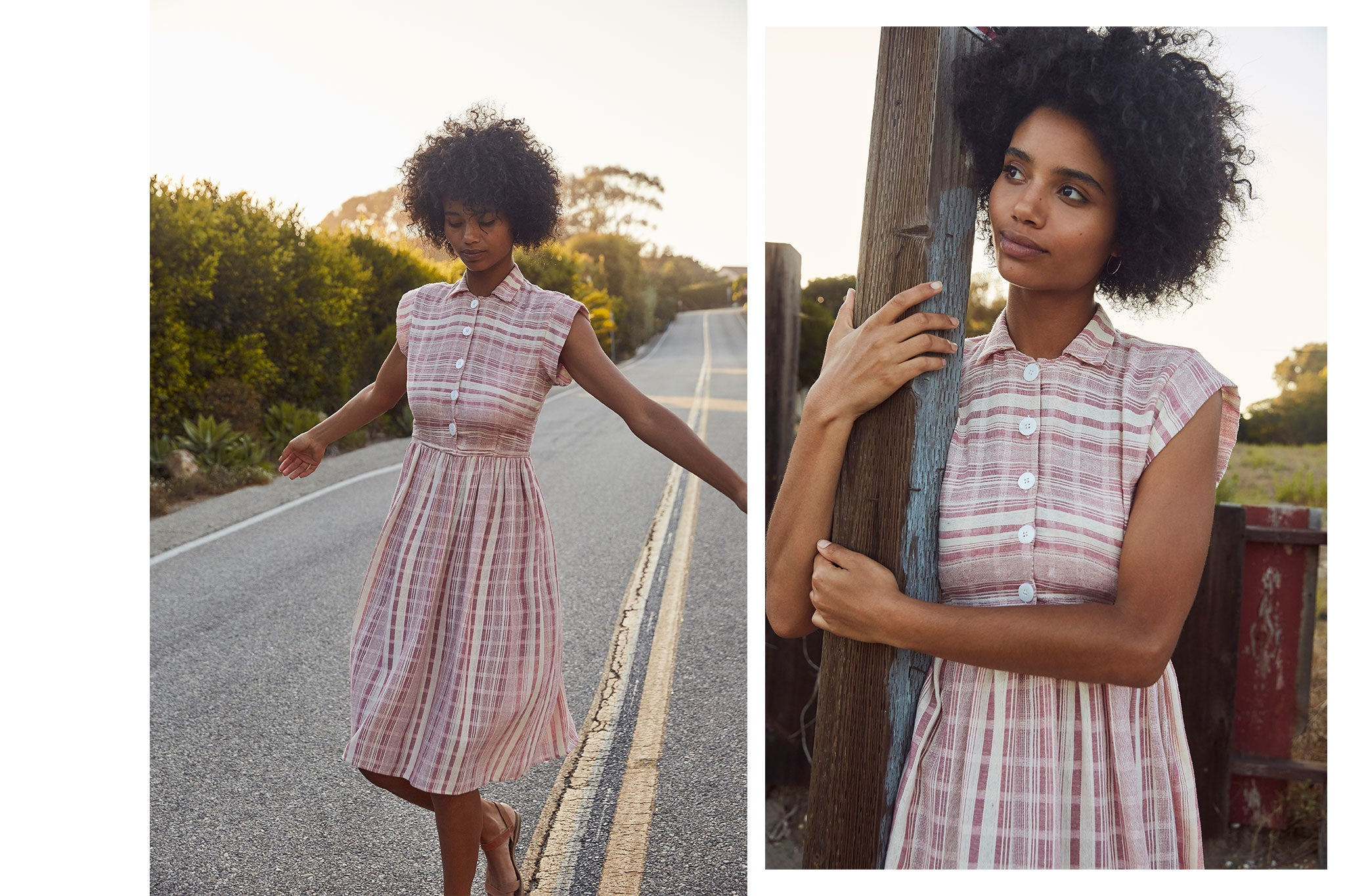 The Piper Dress | Guava Stripe