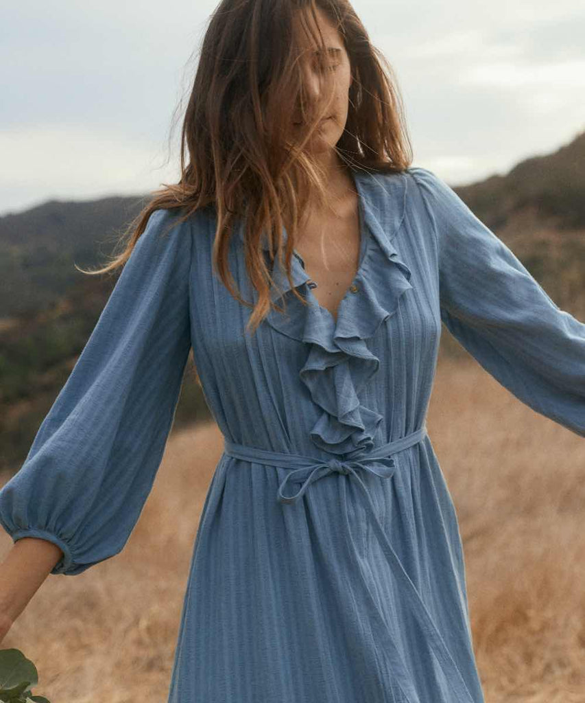 The Plum Dress | Washed Cerulean