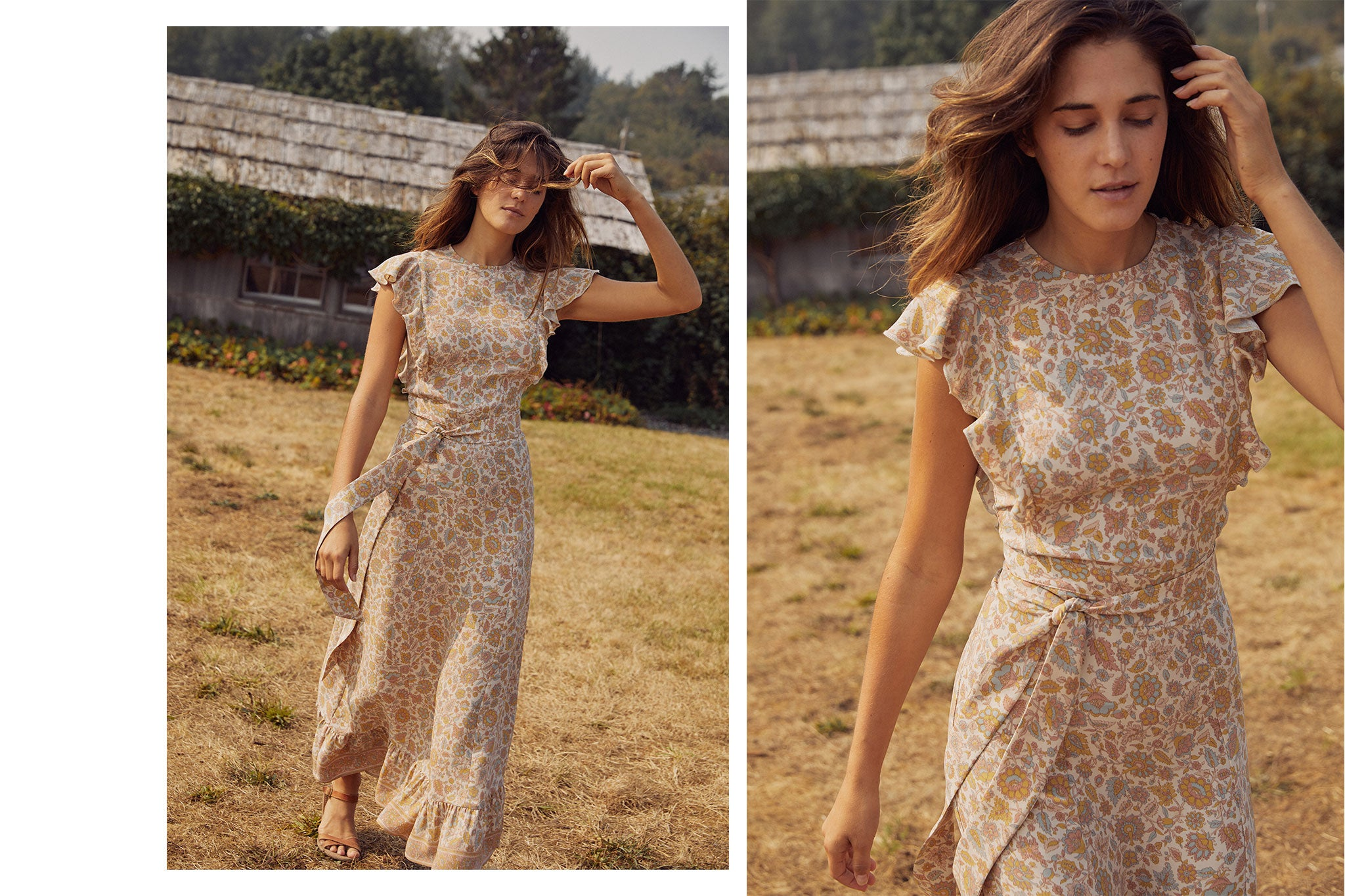 The Quinn Dress | Jacobean Terra (Silk)