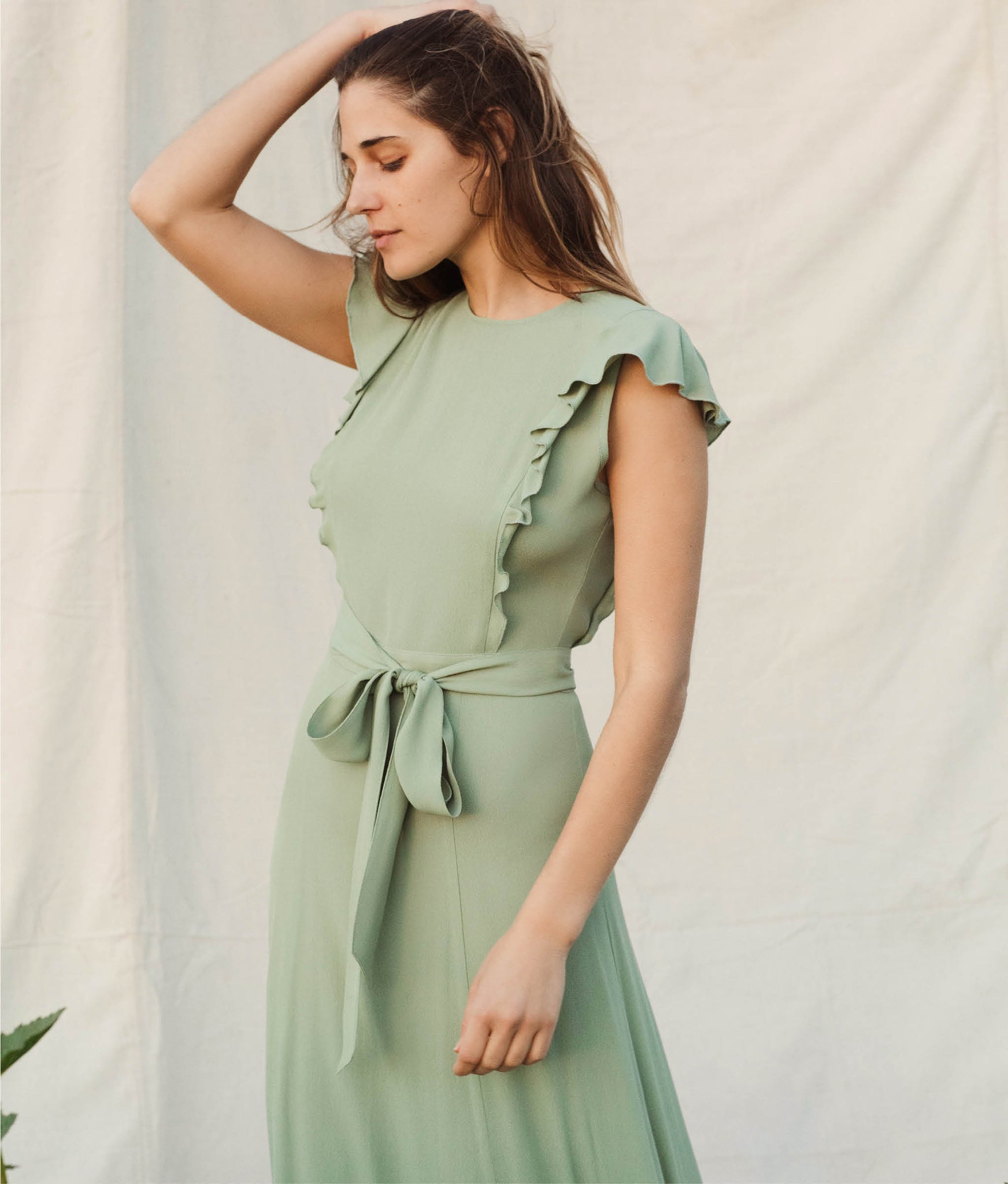 The Quinn Dress | Washed Linden