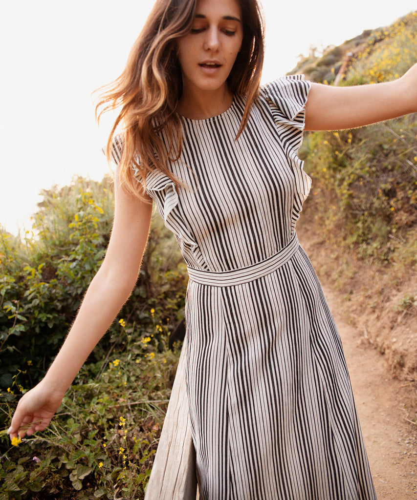 The Quinn Dress | Washed Noir Stripe
