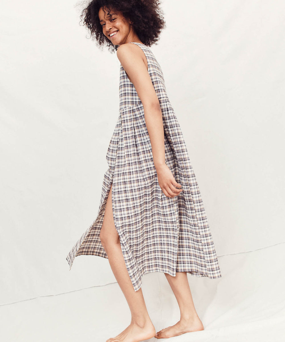 The Remy Dress | Taupe Plaid
