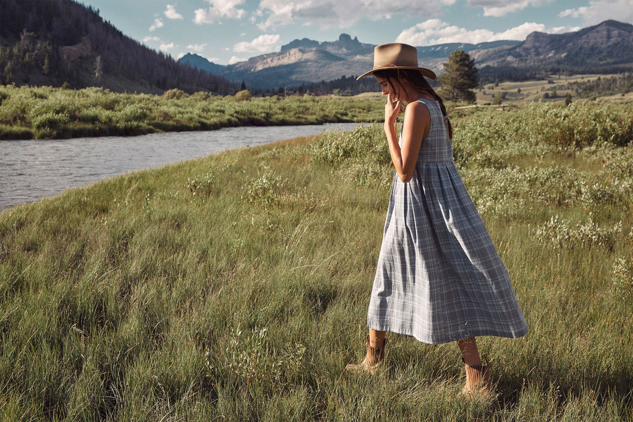 The Remy Dress | Mist Plaid