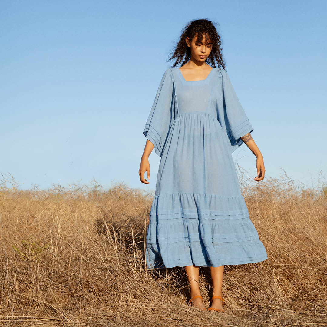 The Ria Dress | Washed Cerulean