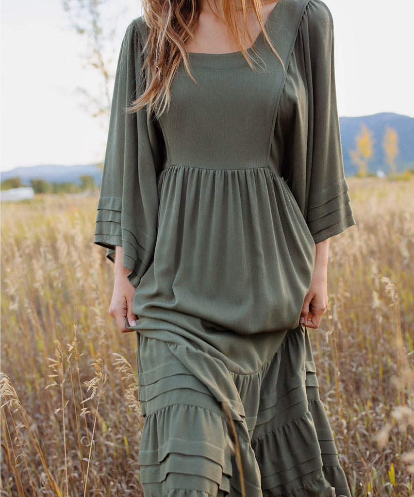 The Ria Dress | Olive