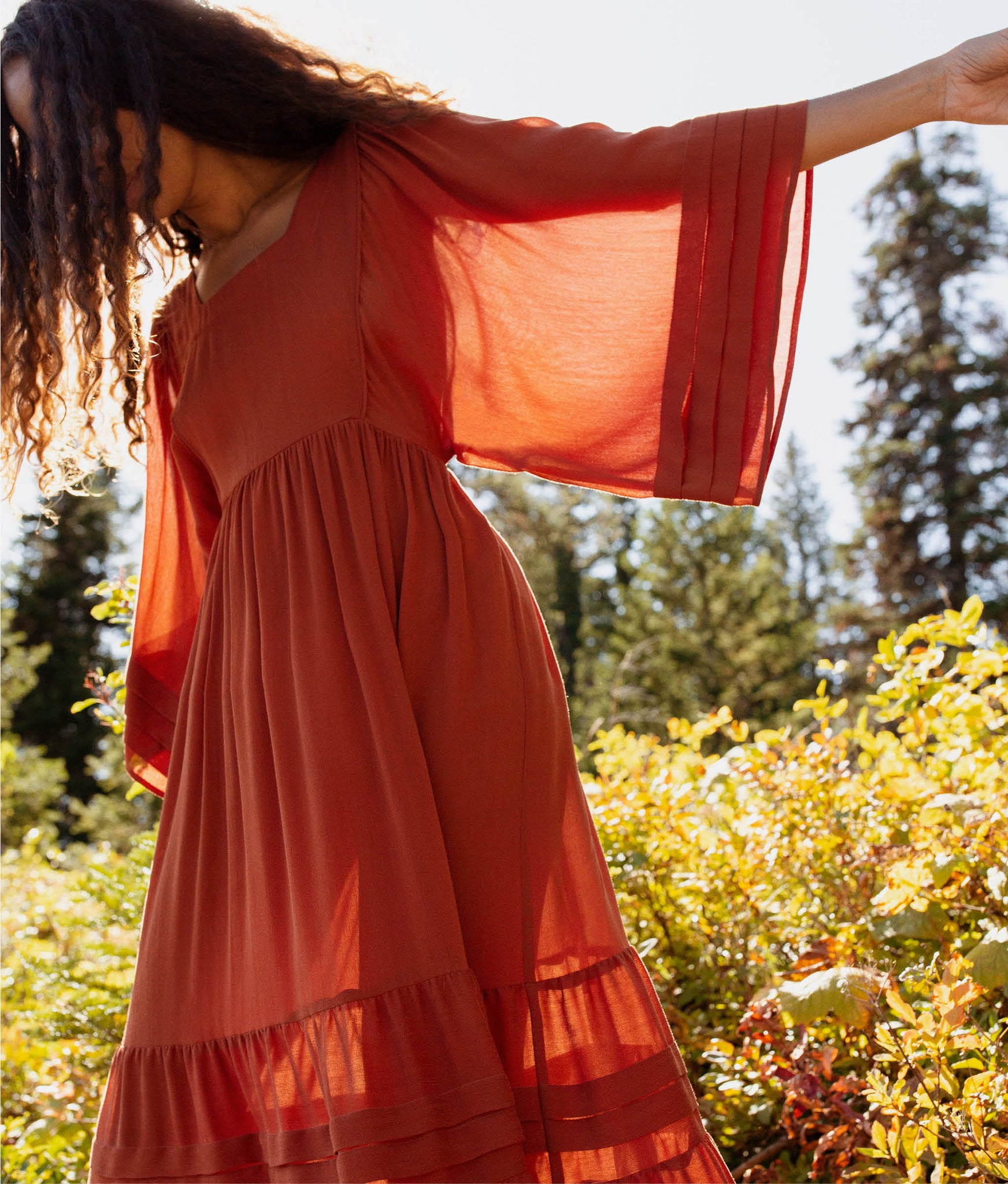 The Ria Dress | Rust
