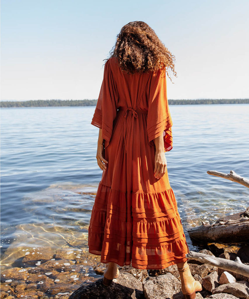 The Ria Dress | Rust image 11