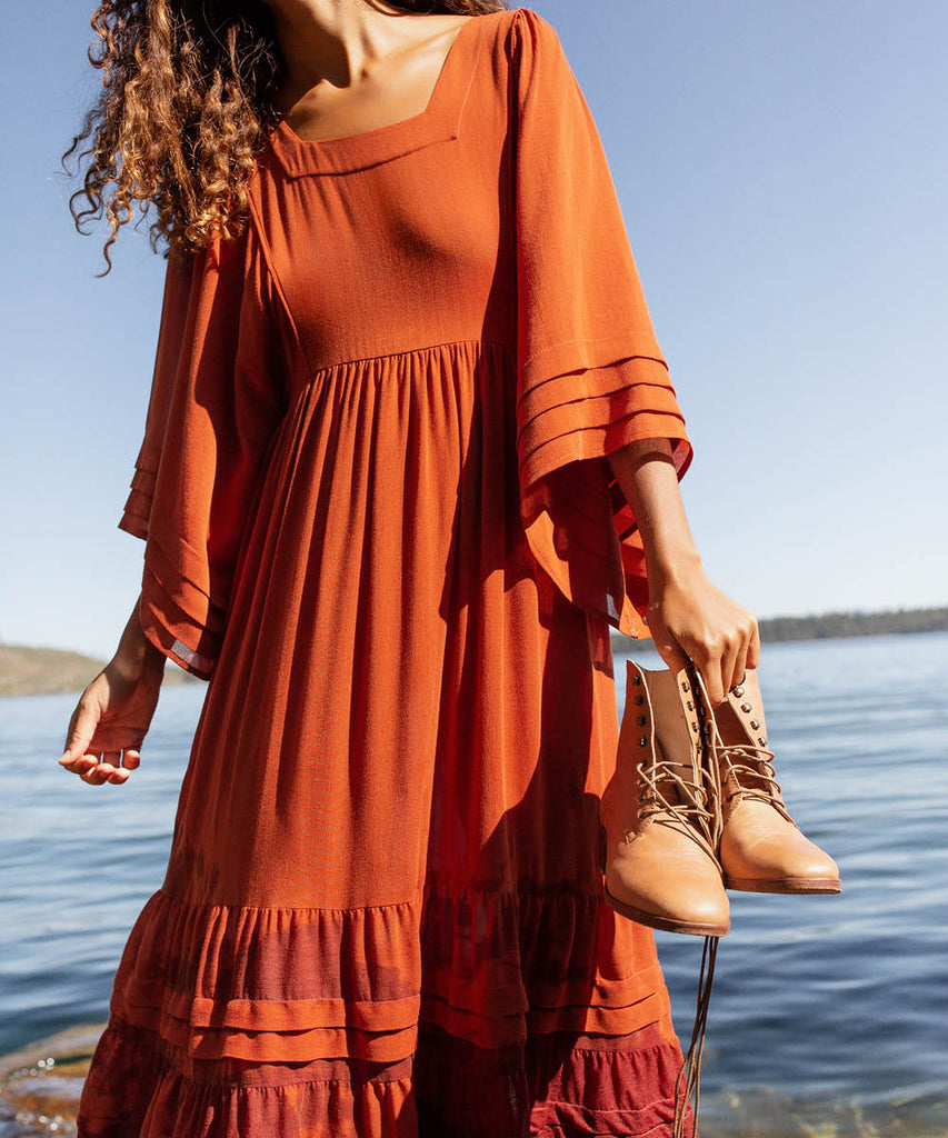 The Ria Dress | Rust image 15