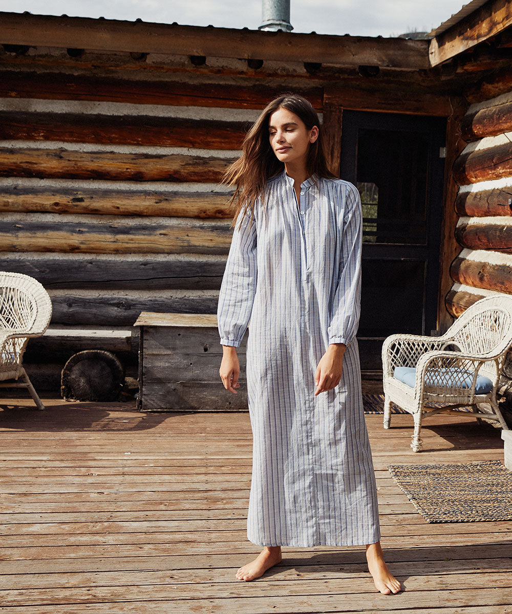 The Riley Dress | Sailor Stripe (Cotton)