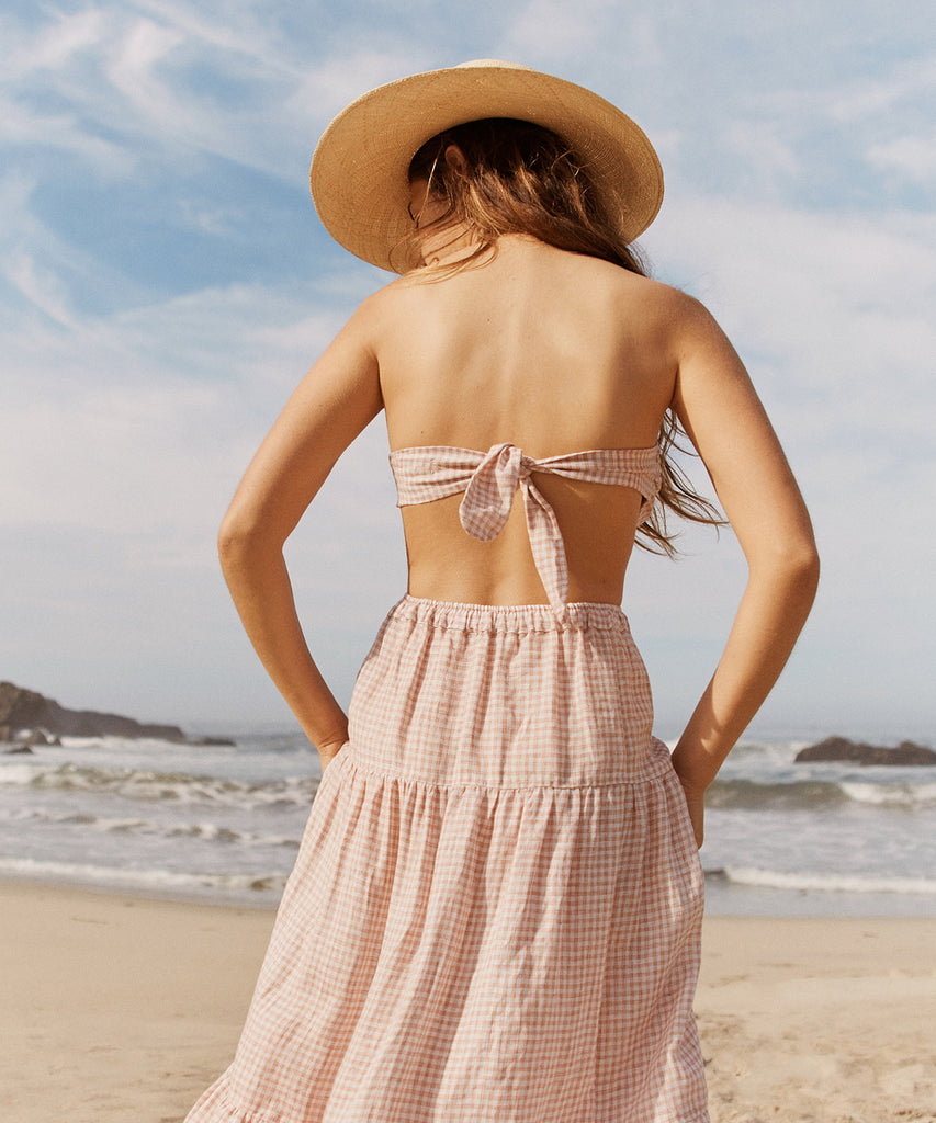 The Rilo Bandeau | Strawberry Gingham