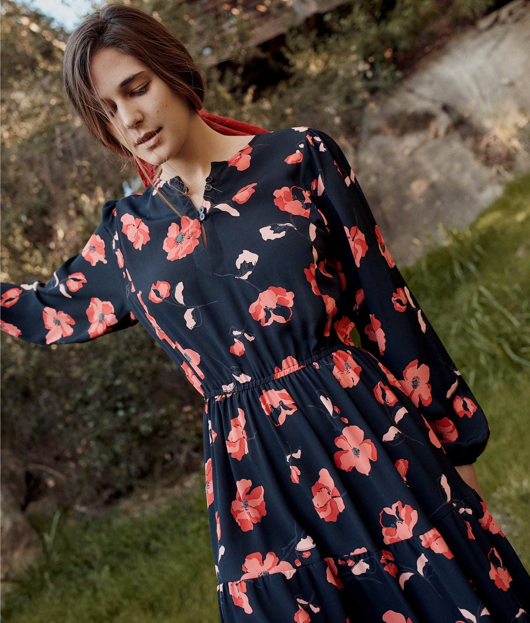 The River Dress | Night Poppy