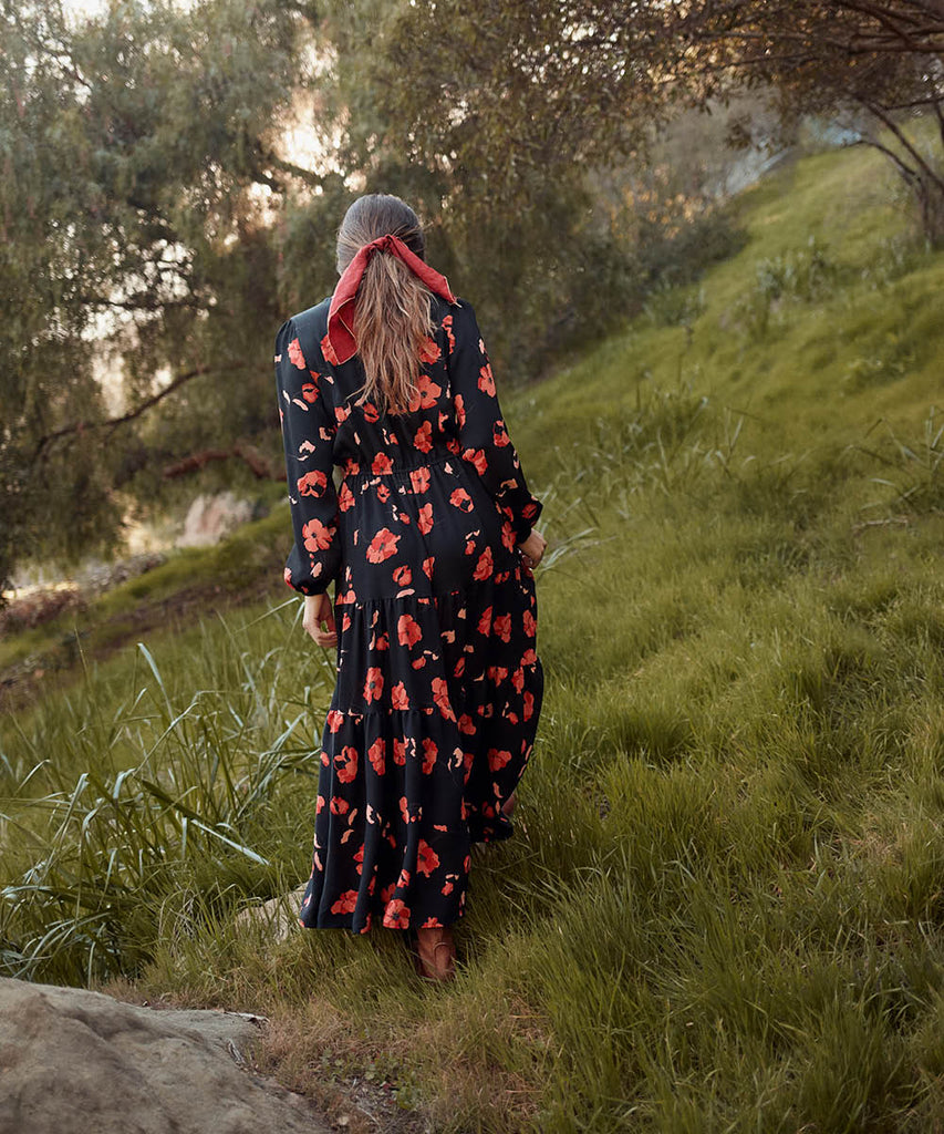 The River Dress | Night Poppy image 6