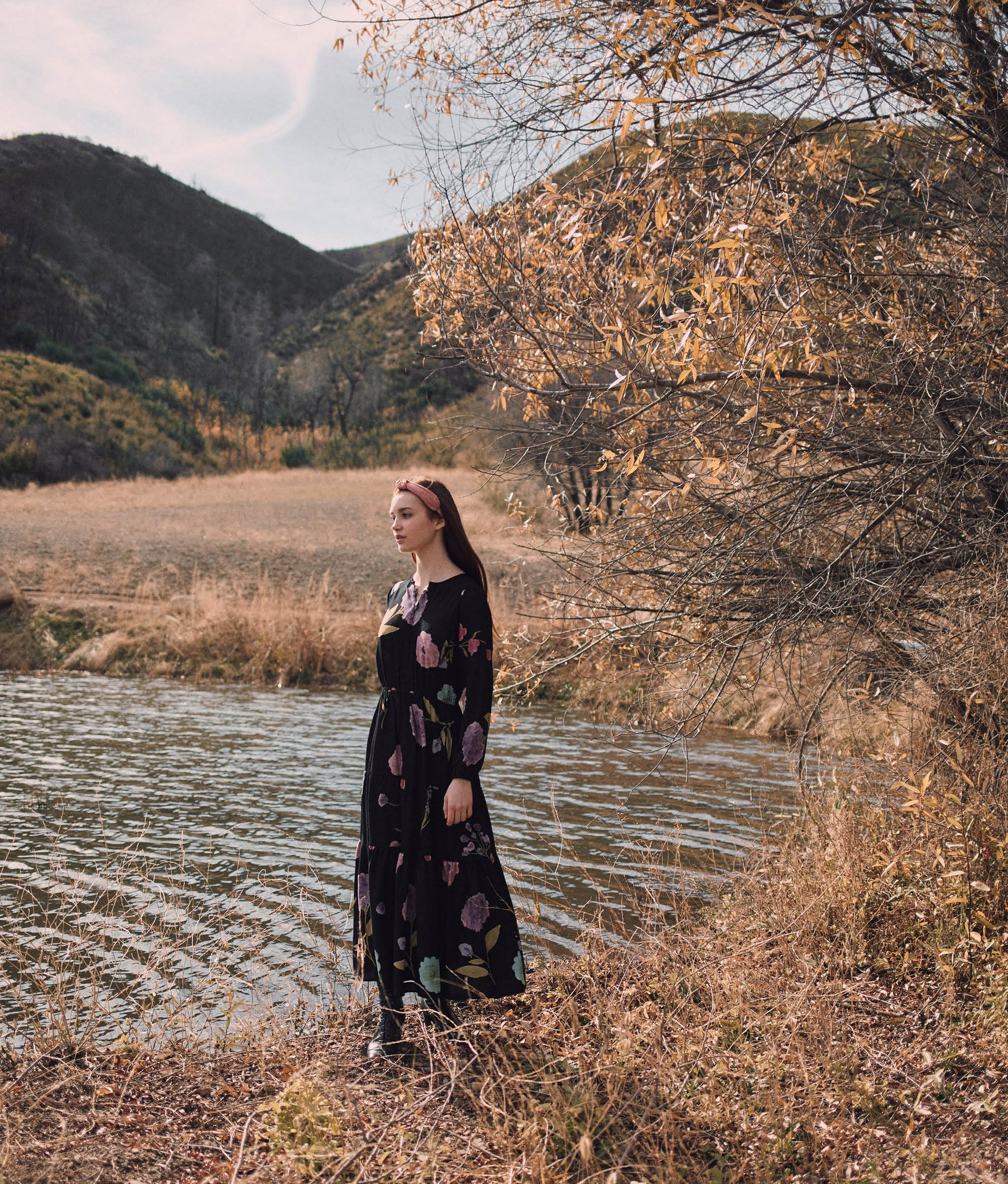 The River Dress | Noir Blooms
