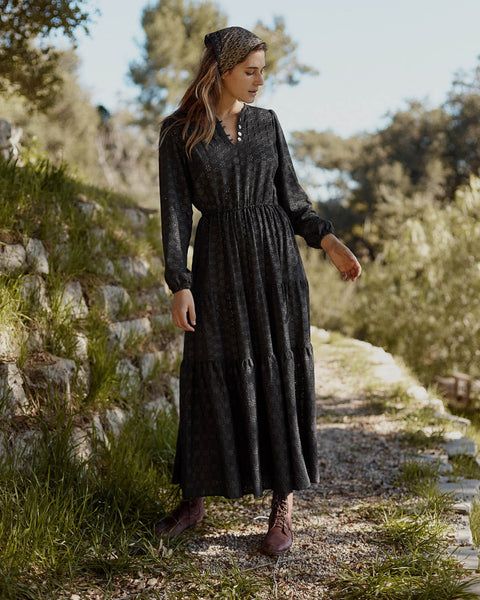 The River Dress | Ebony Embroider