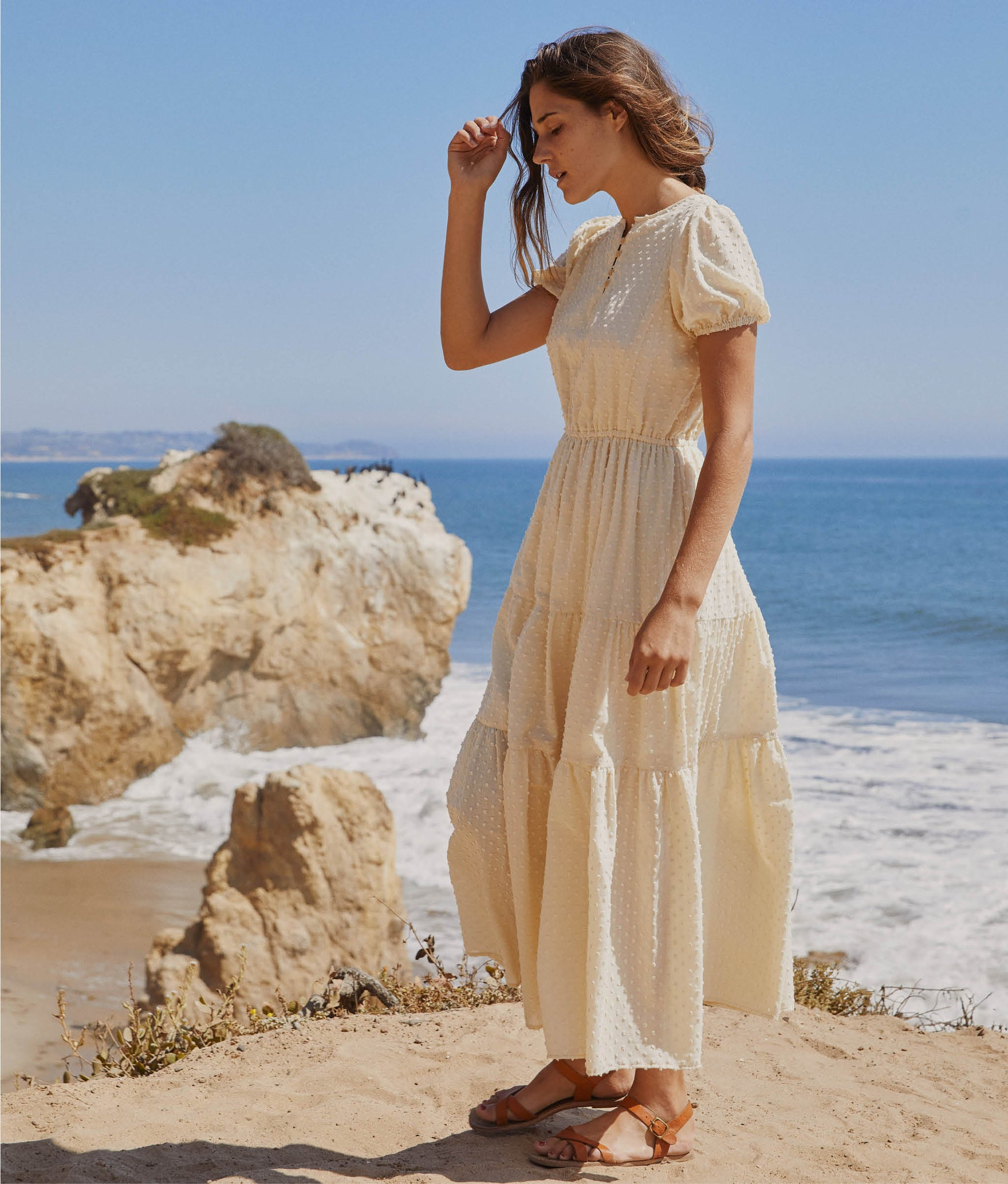 The Robin Dress | Embossed Ivory