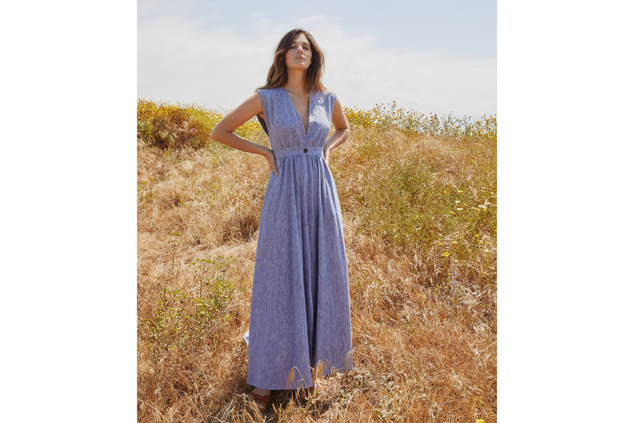 The Rosemary Dress | Woven Slate