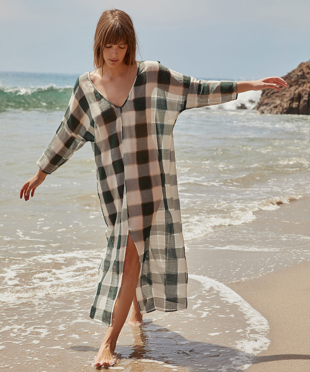 The Rou Dress | Hunter Plaid