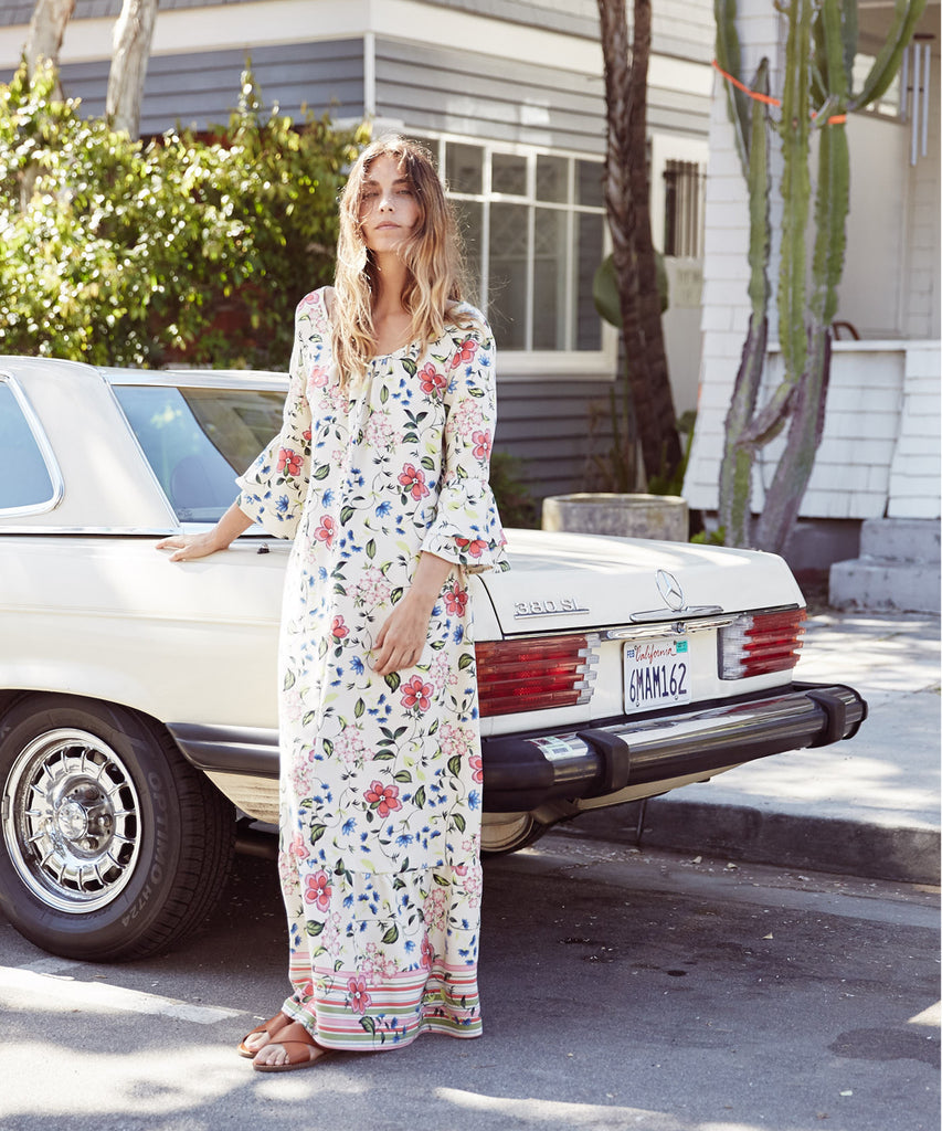The Rowe Dress | Cream Floral image 3