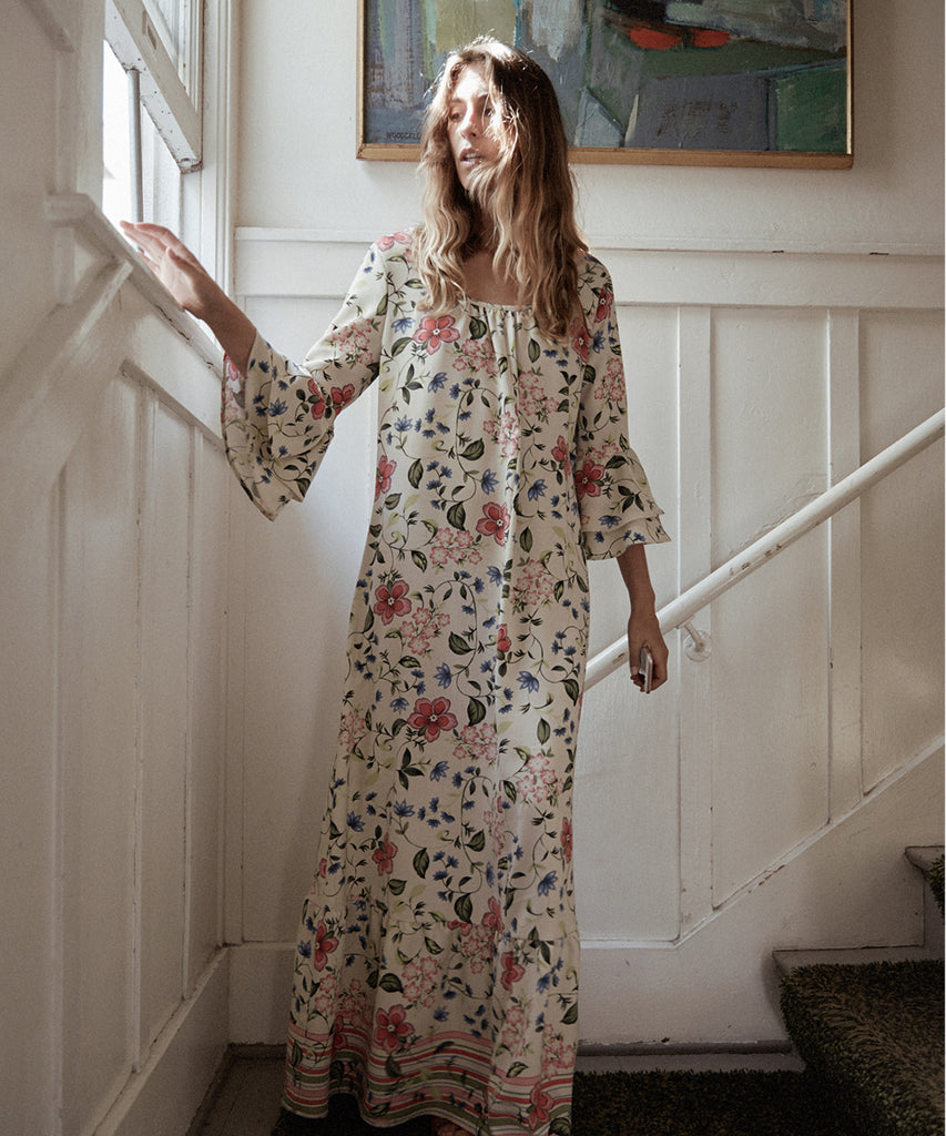 The Rowe Dress | Cream Floral image 6