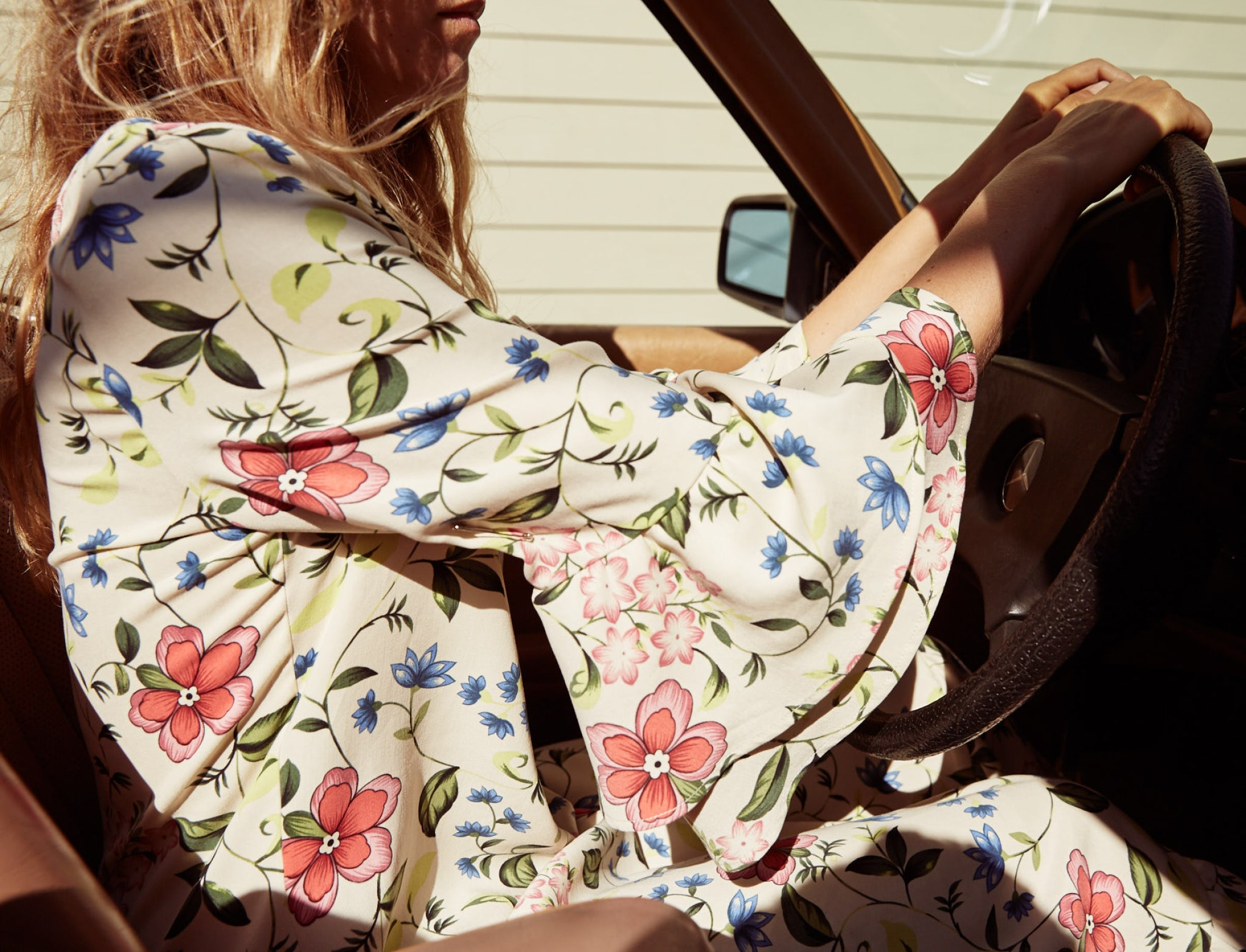 The Rowe Dress | Cream Floral