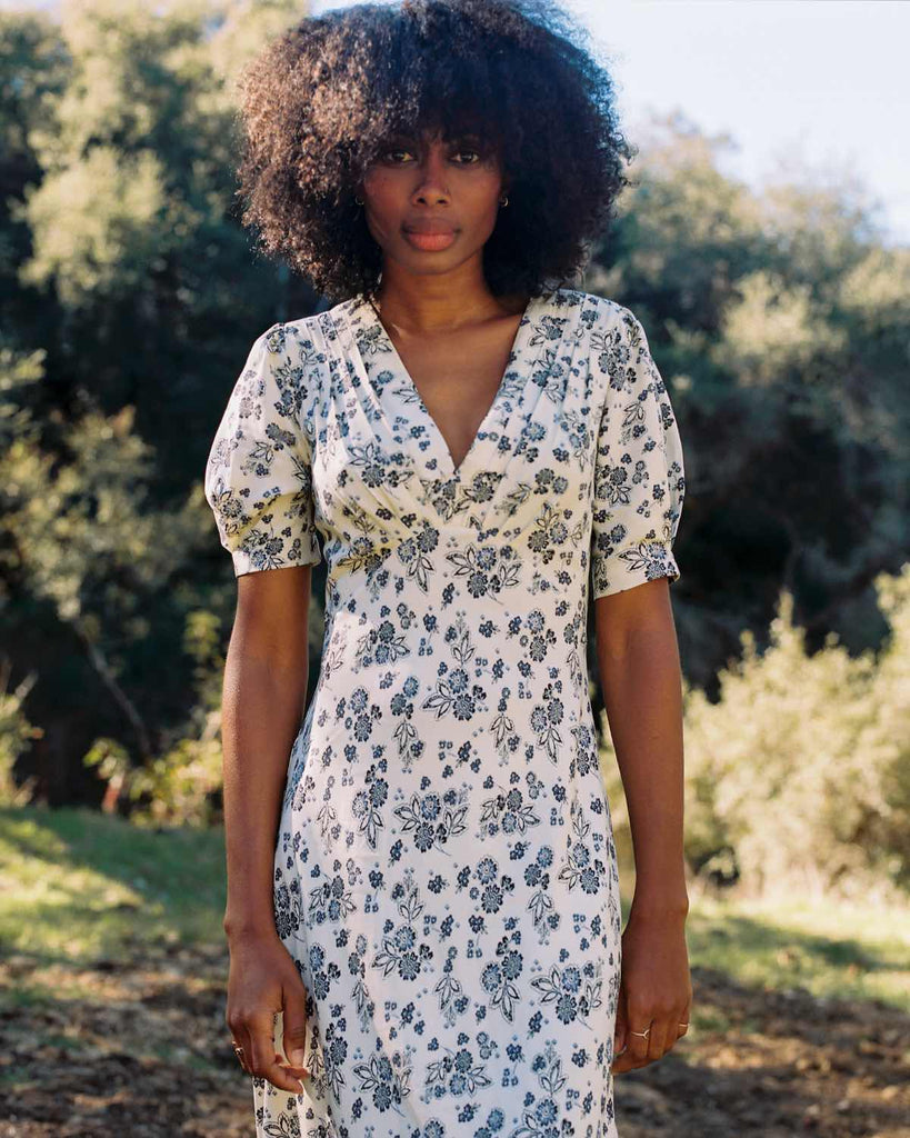 The Ruth Dress | Navy Vine