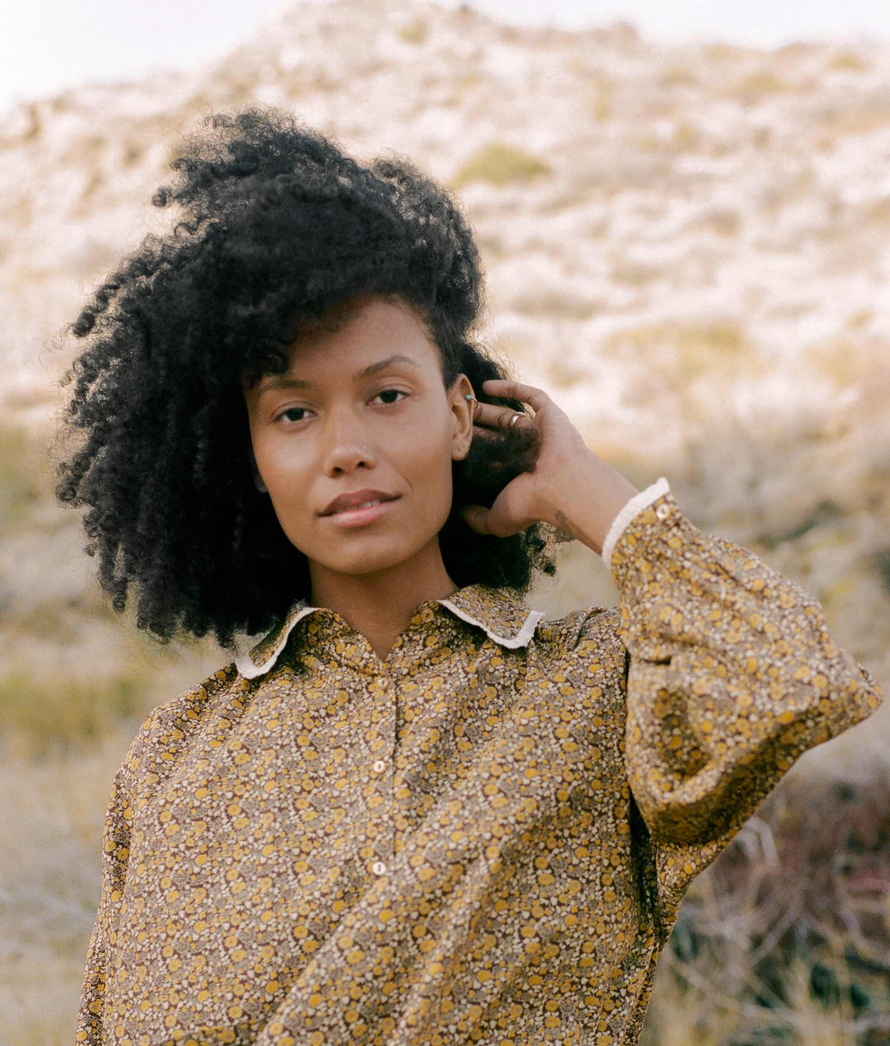 The Sadie Blouse | Golden Blooming Vine