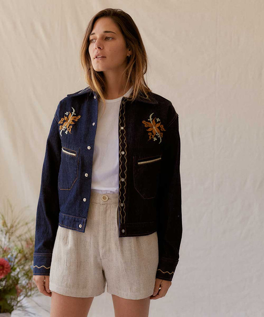 The Sailor Jacket | Dusk Wash Embroider