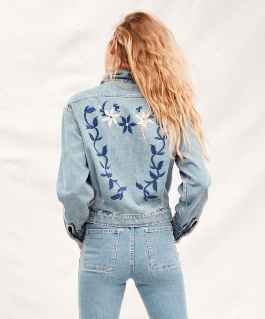 The Sailor Jacket | Moonlight Wash Embroider