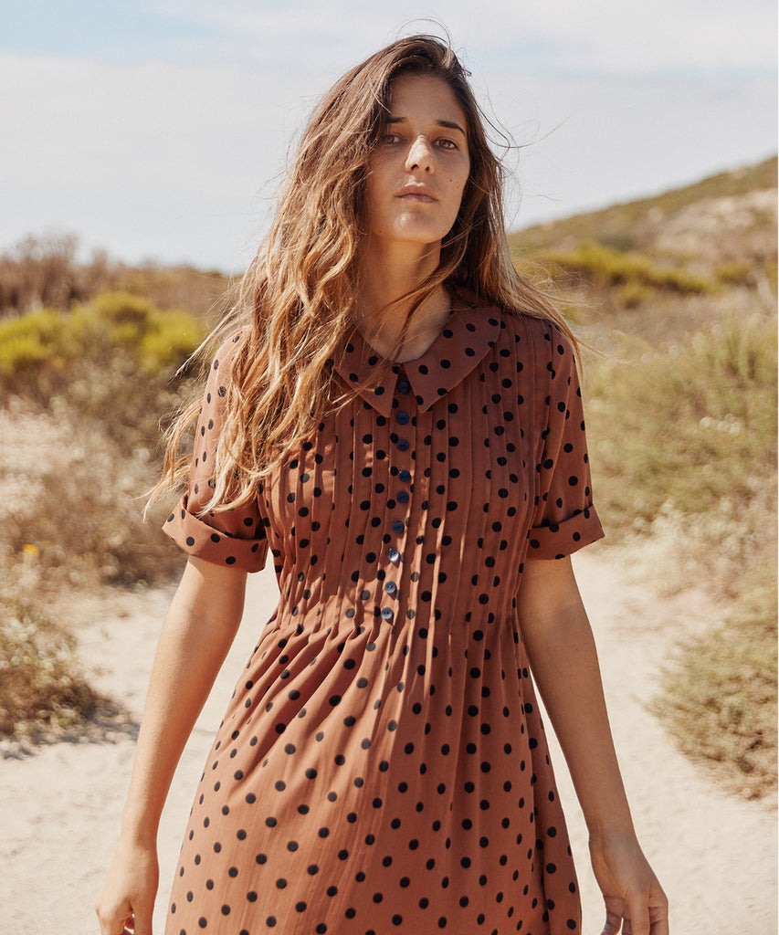 The Samantha Dress | Russet Dot