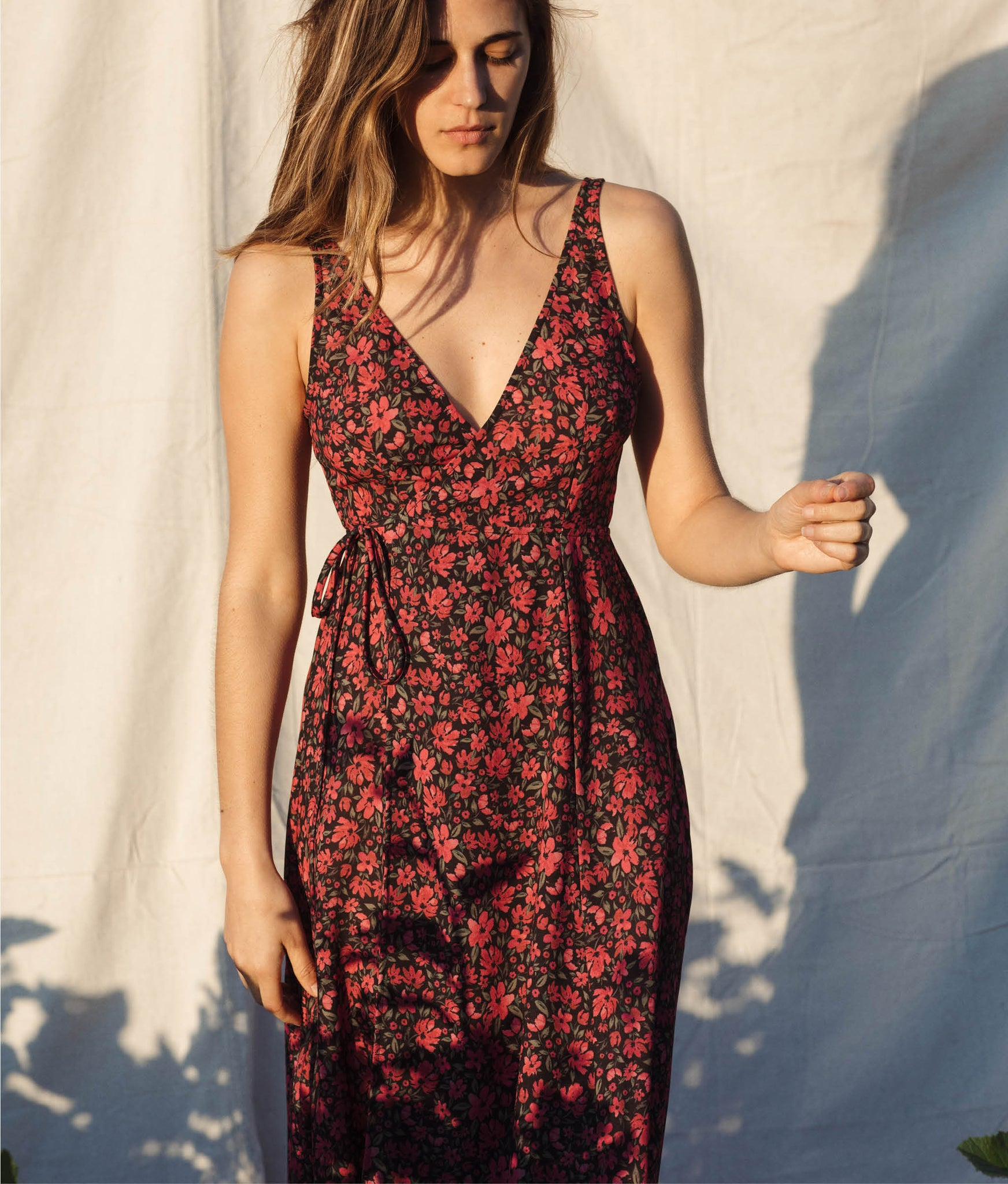 The Sarita Dress | Red Anemone