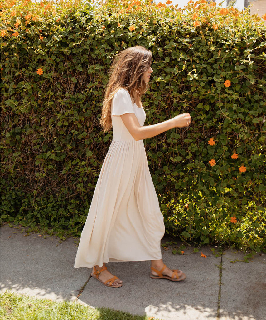 The Scarlet Dress | Washed Flax