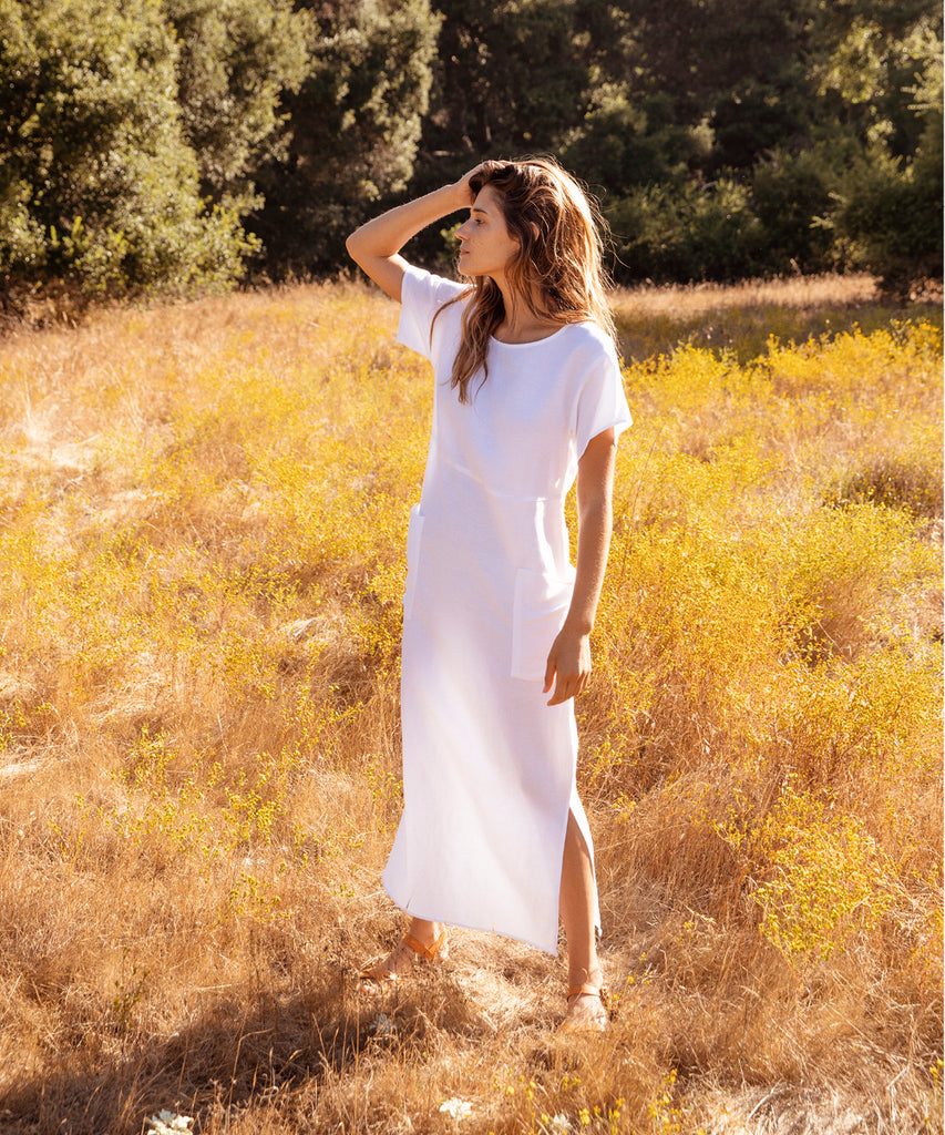 The Seaton Dress | Alabaster Linen image 7